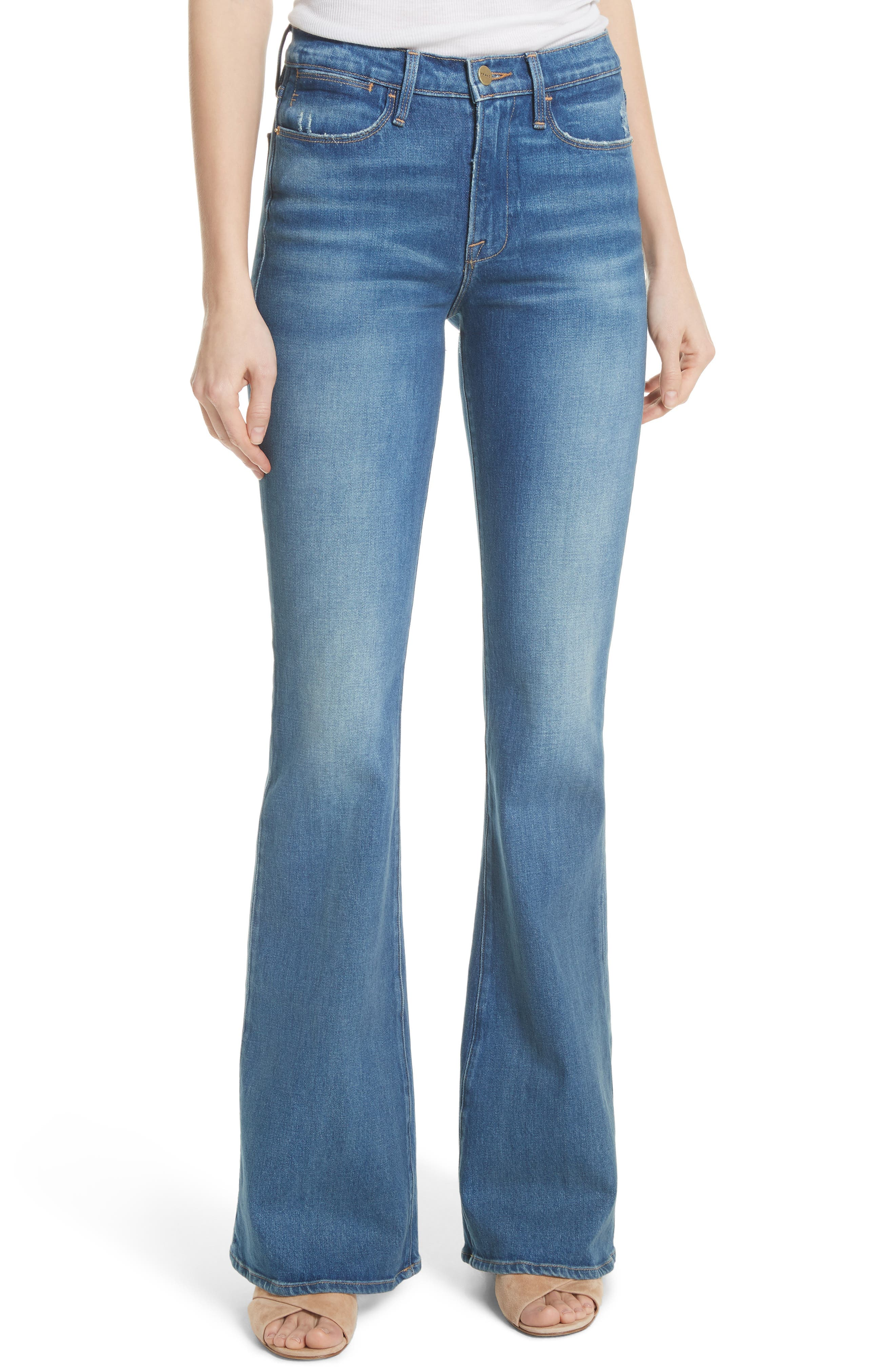 Le High Flare Jeans,                             Main thumbnail 1, color,                             CLAPPS