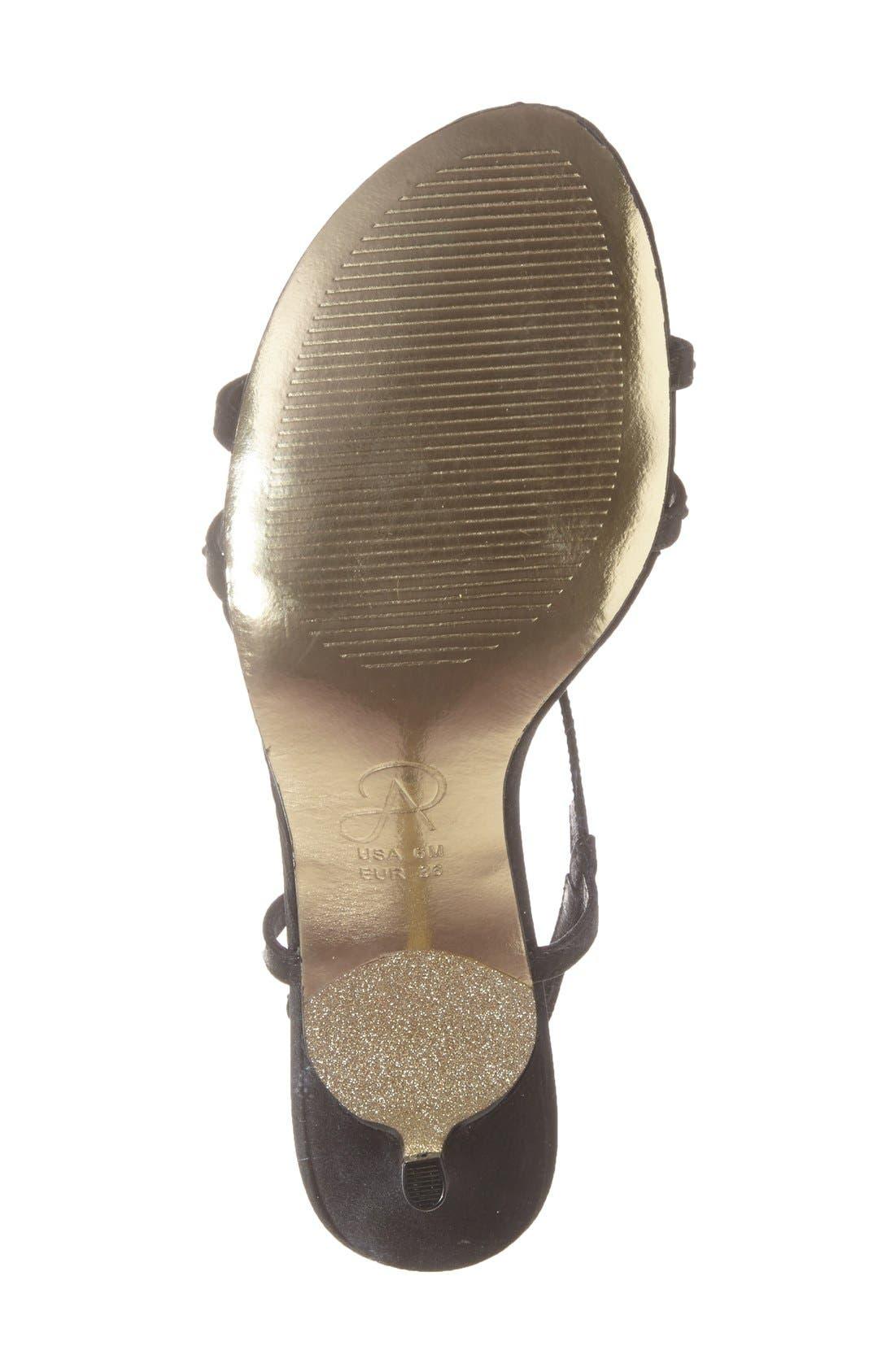 'Amari' Evening Sandal,                             Alternate thumbnail 4, color,                             001