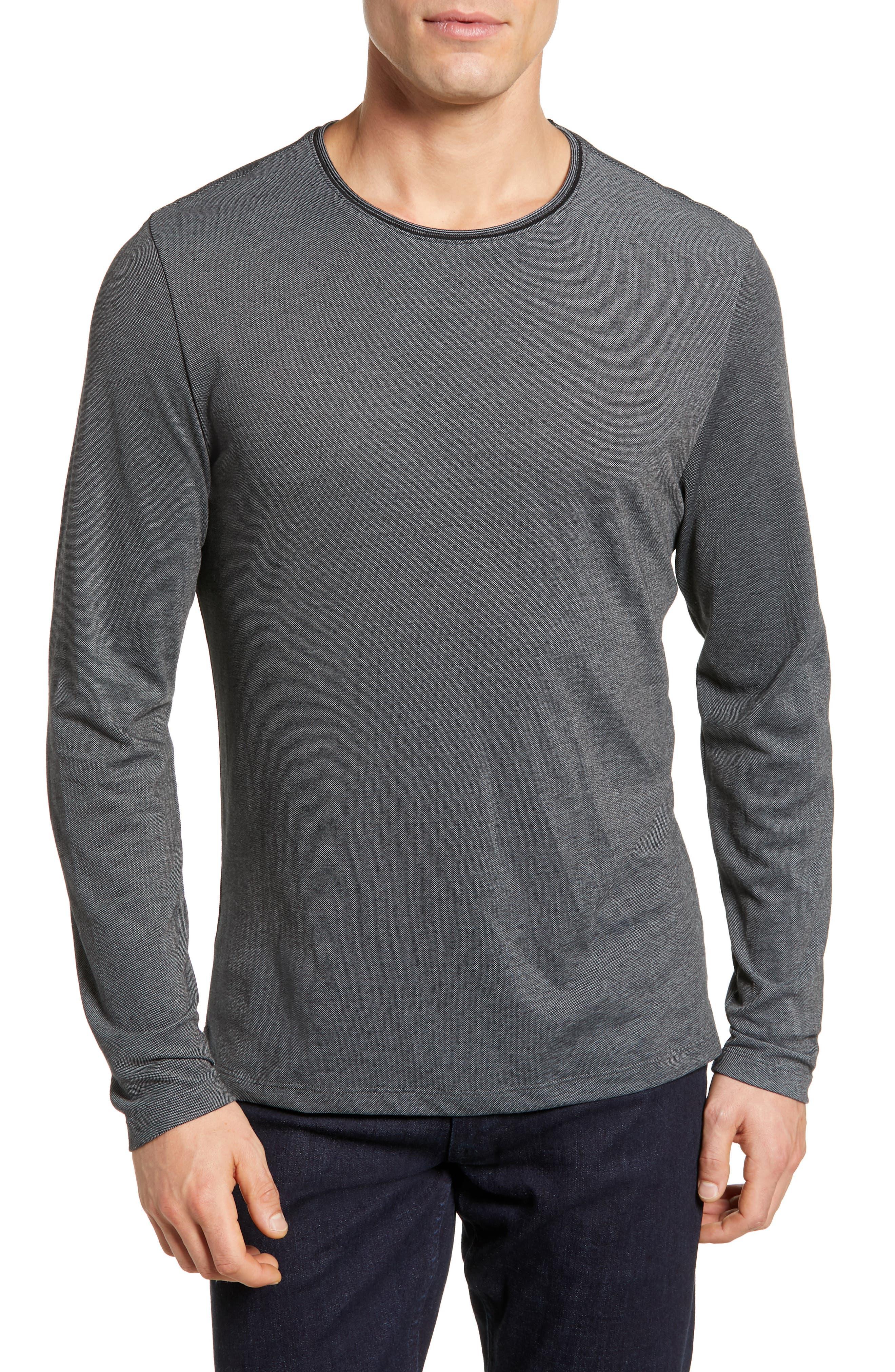 Grand Forks Long Sleeve Piqué T-Shirt,                         Main,                         color, GREY