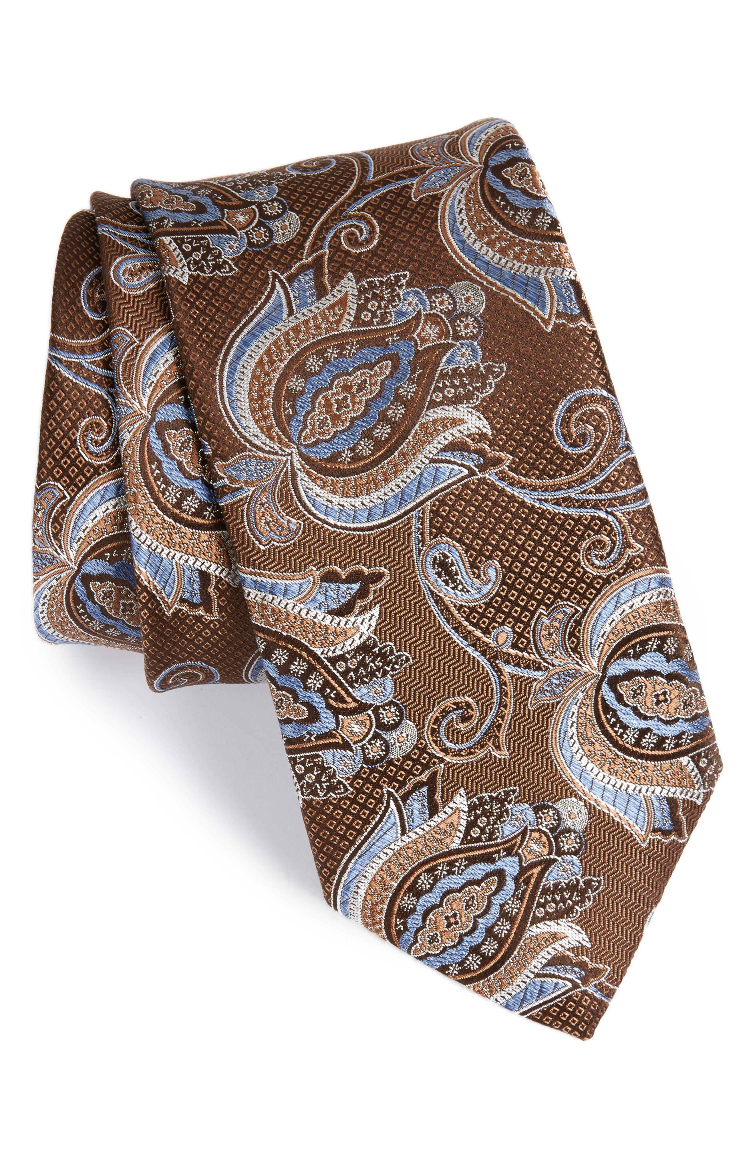 Paisley Silk Tie,                             Main thumbnail 1, color,                             200