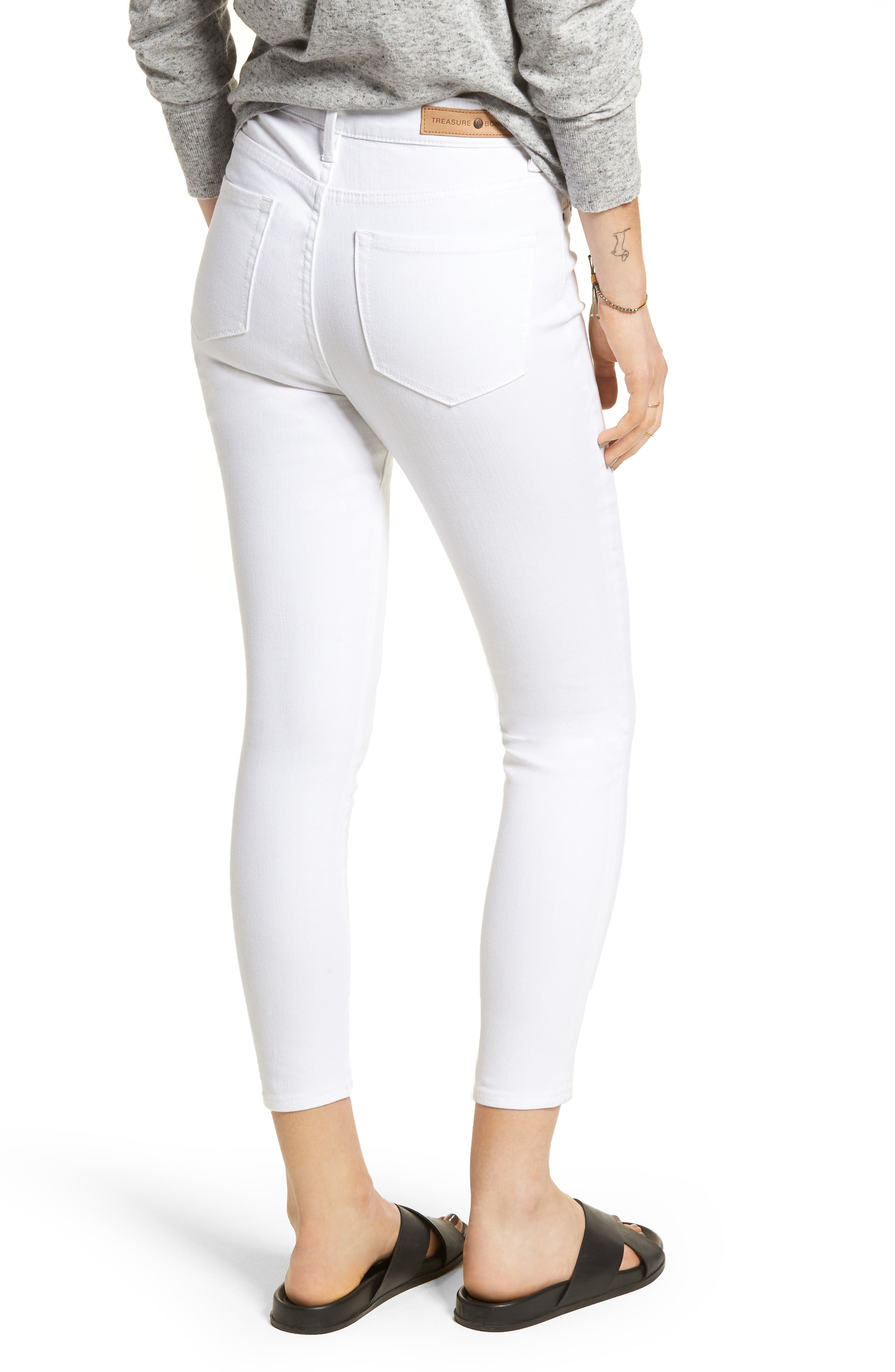 Charity High Waist Crop Skinny Jeans,                             Alternate thumbnail 2, color,                             100