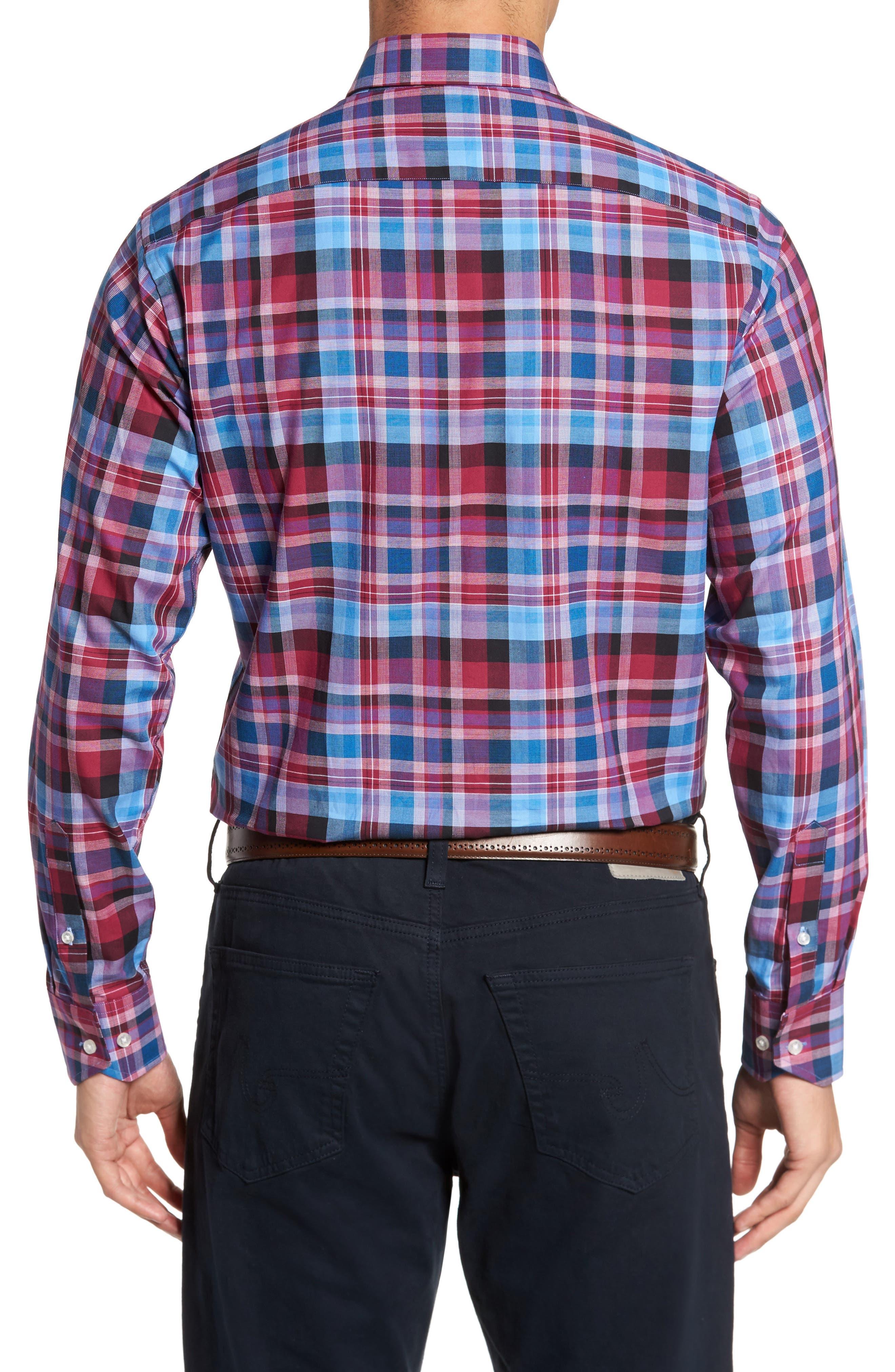 Colfax Plaid Sport Shirt,                             Alternate thumbnail 2, color,