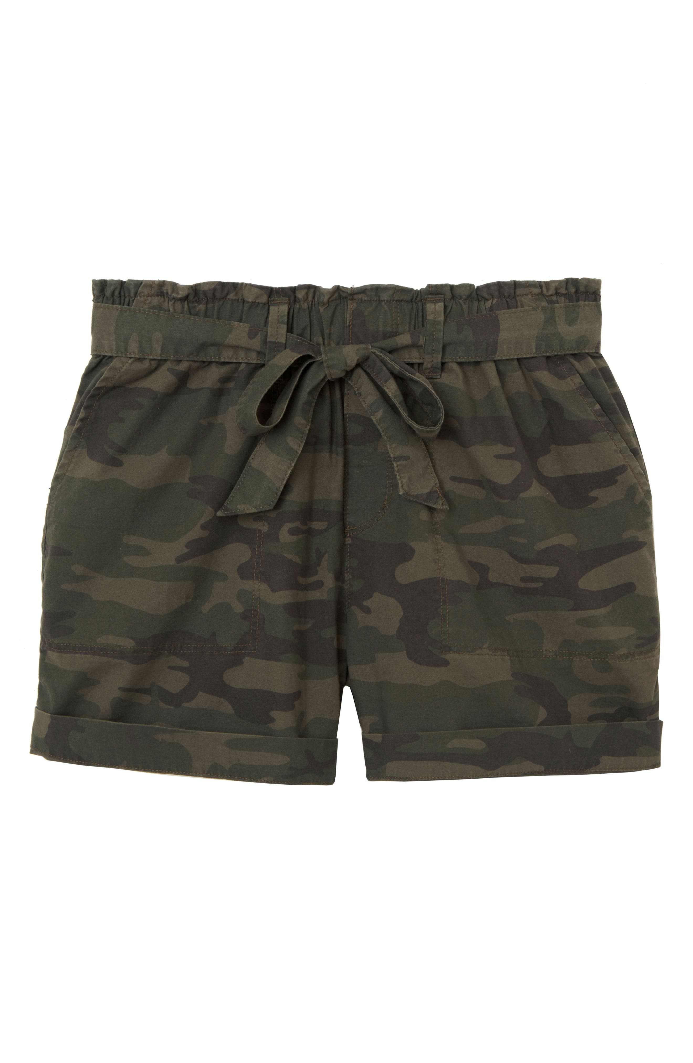 Daydreamer Stretch Cotton Camo Shorts,                             Alternate thumbnail 5, color,                             398