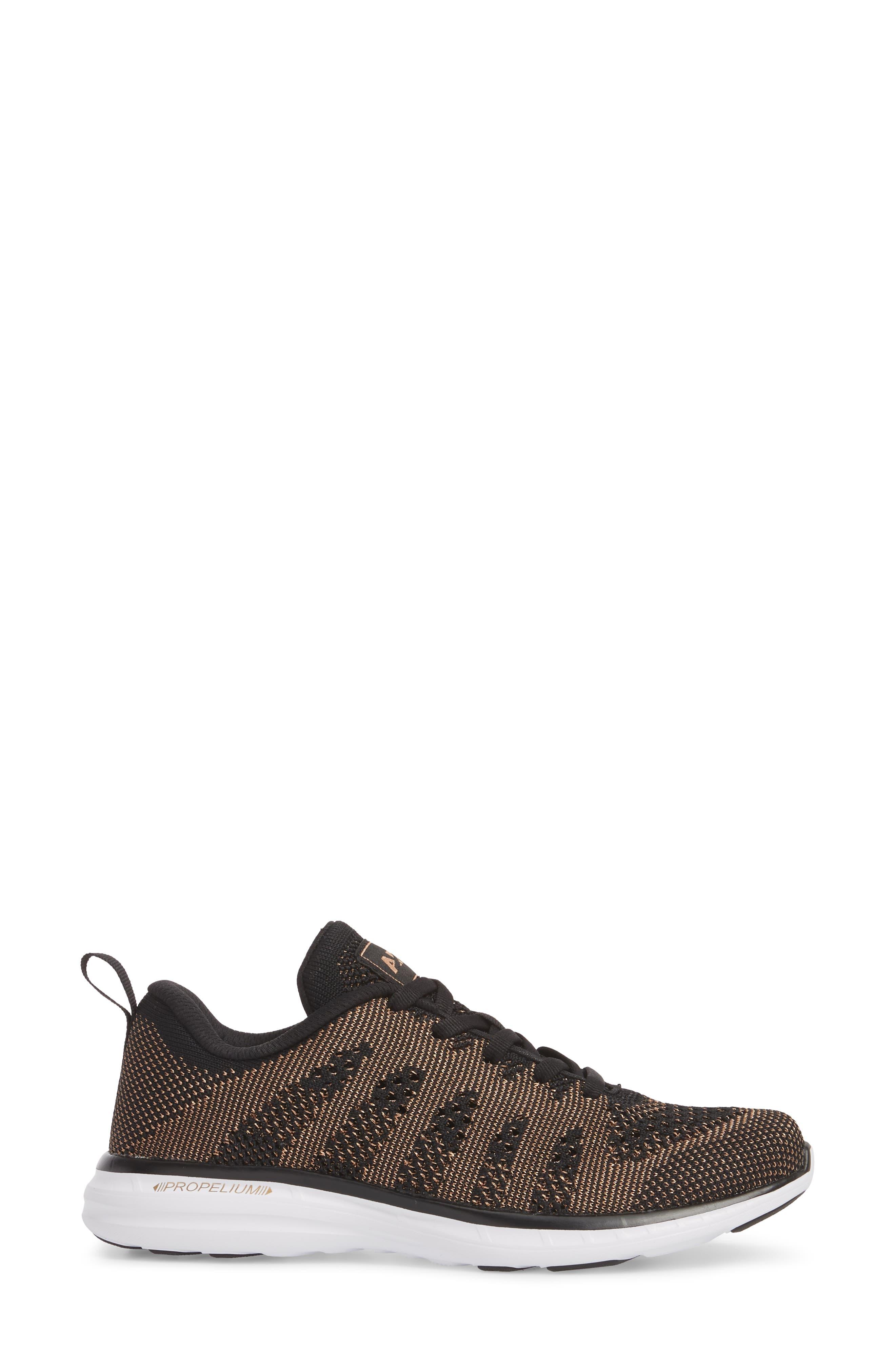 'Techloom Pro' Running Shoe,                             Alternate thumbnail 3, color,                             BLACK/ ROSE GOLD