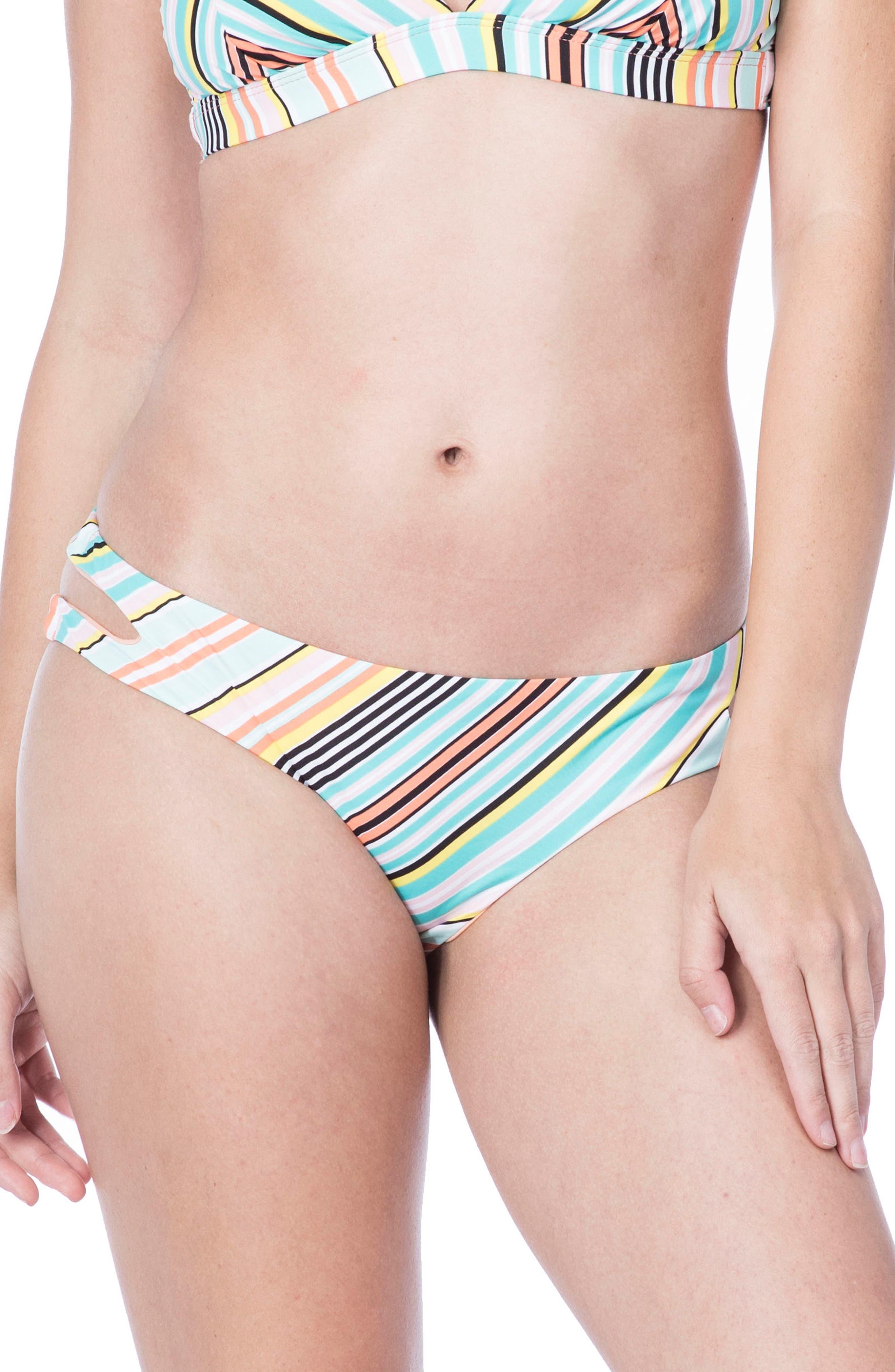 Stripe Bikini Bottoms,                             Main thumbnail 1, color,                             700