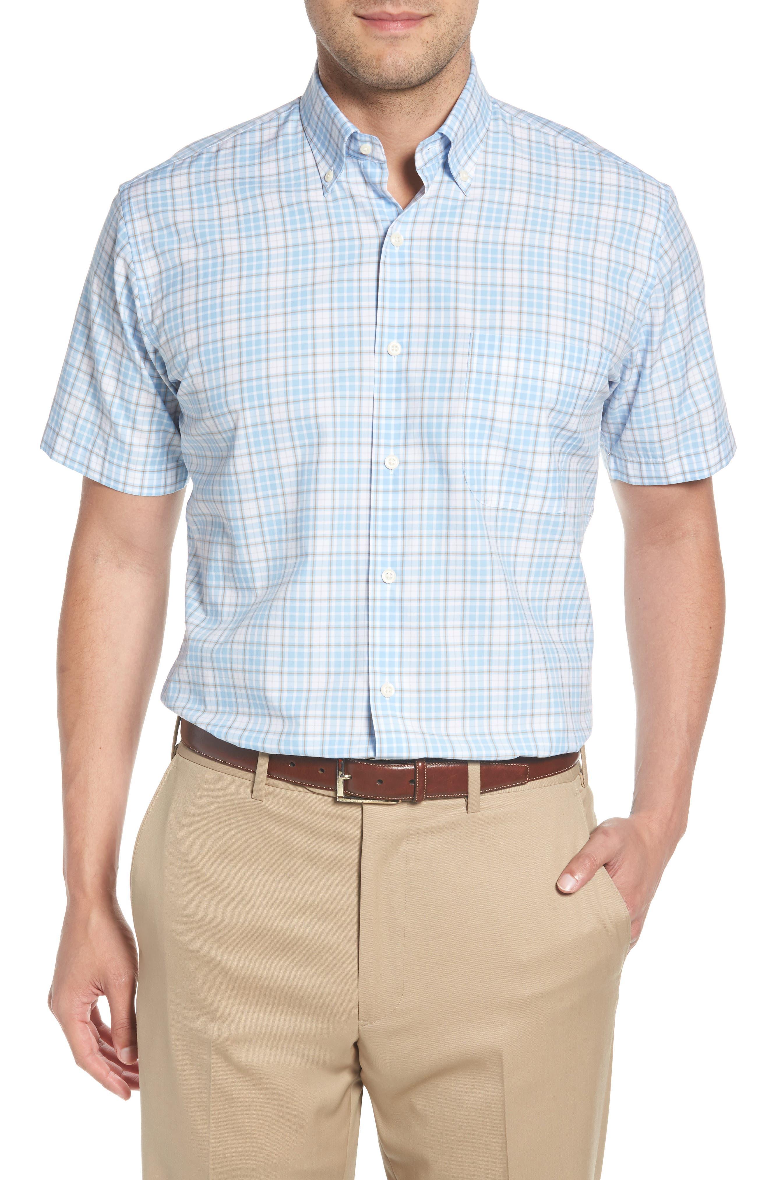 PETER MILLAR Belltown Regular Fit Tartan Sport Shirt, Main, color, 400