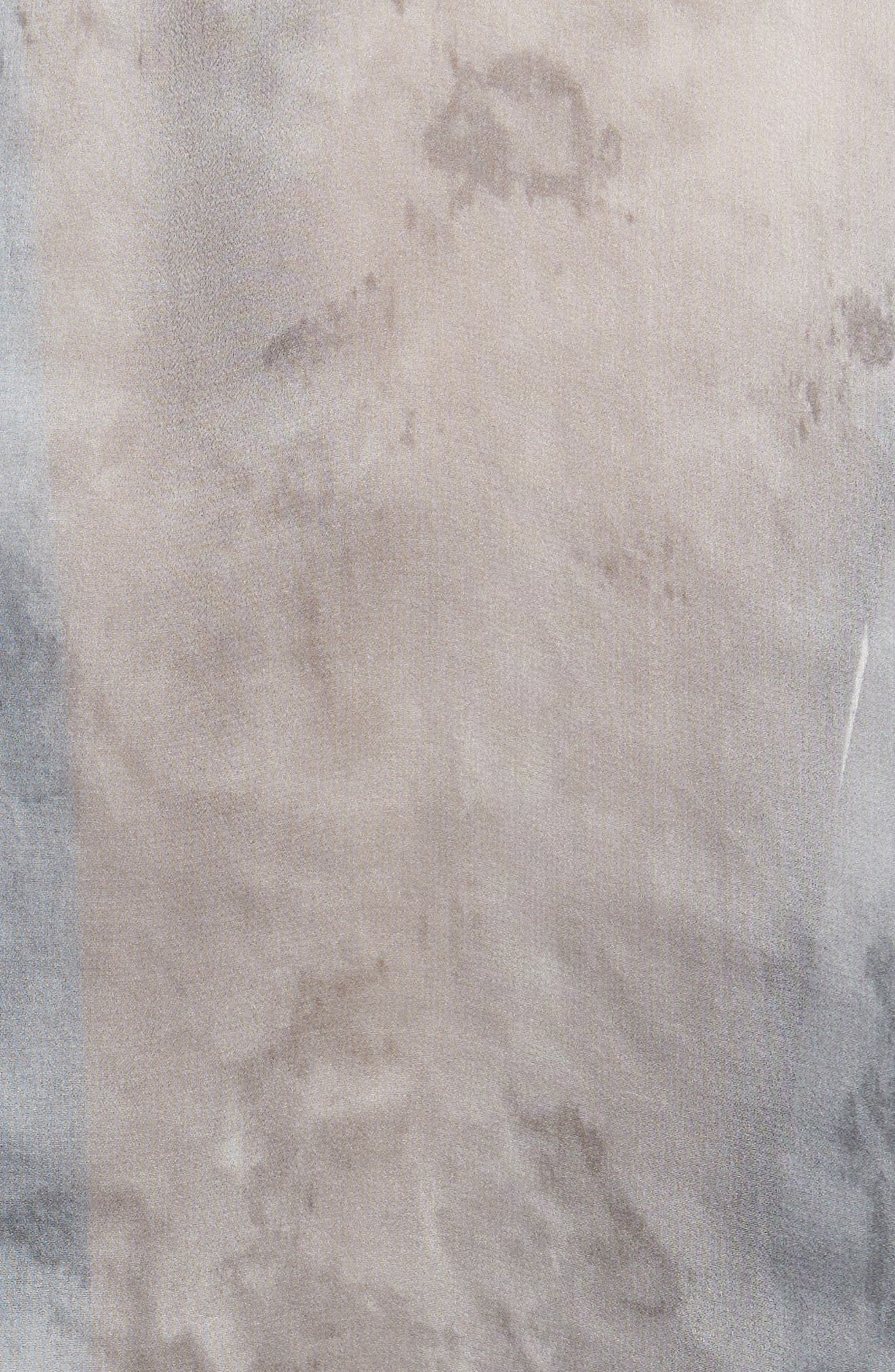Watercolor Marble Print Silk Blouse,                             Alternate thumbnail 5, color,                             098