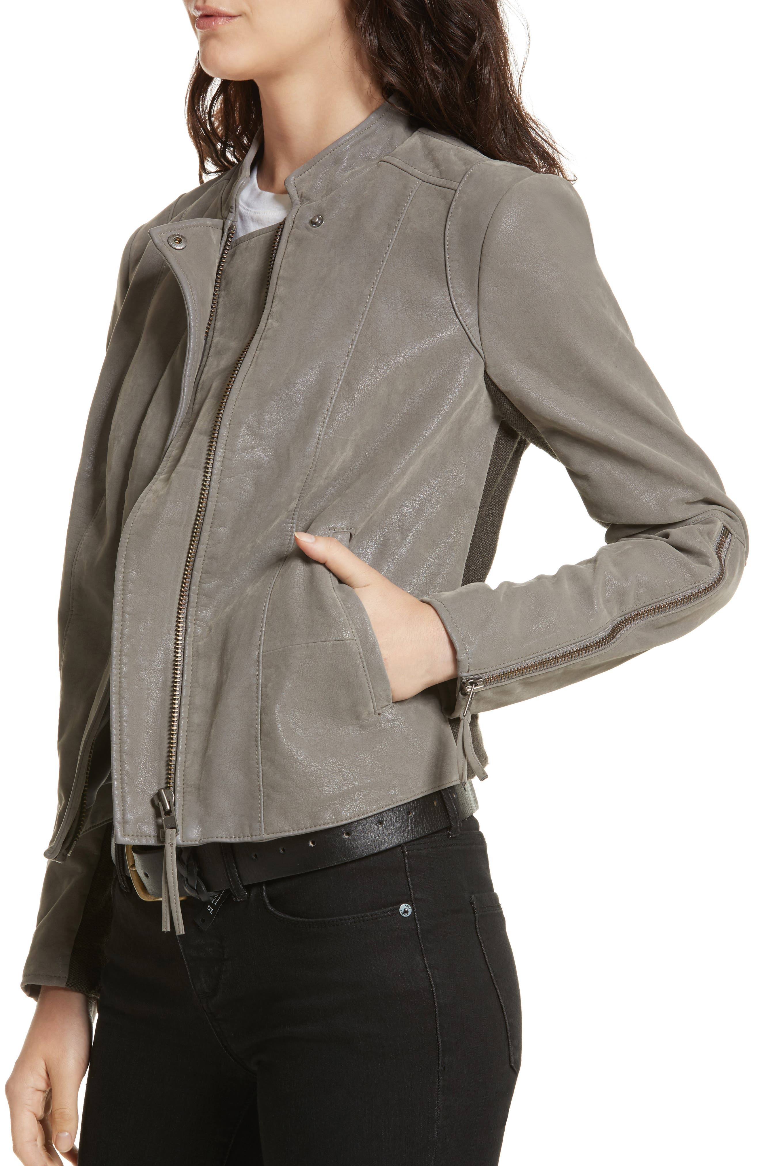 Faux Leather Jacket,                             Alternate thumbnail 28, color,