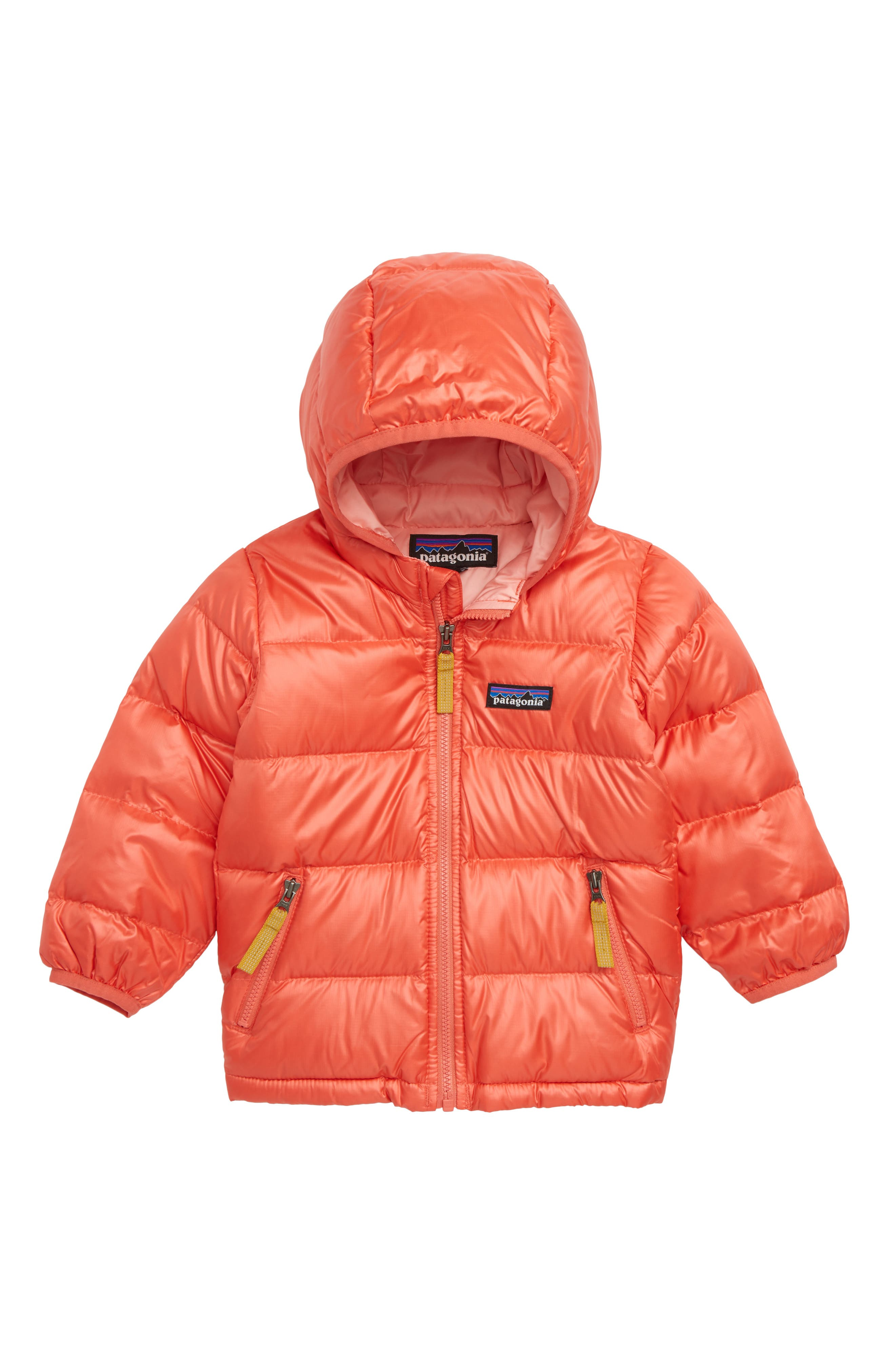 Hooded Down Jacket,                         Main,                         color, SPCL SPICED CORAL
