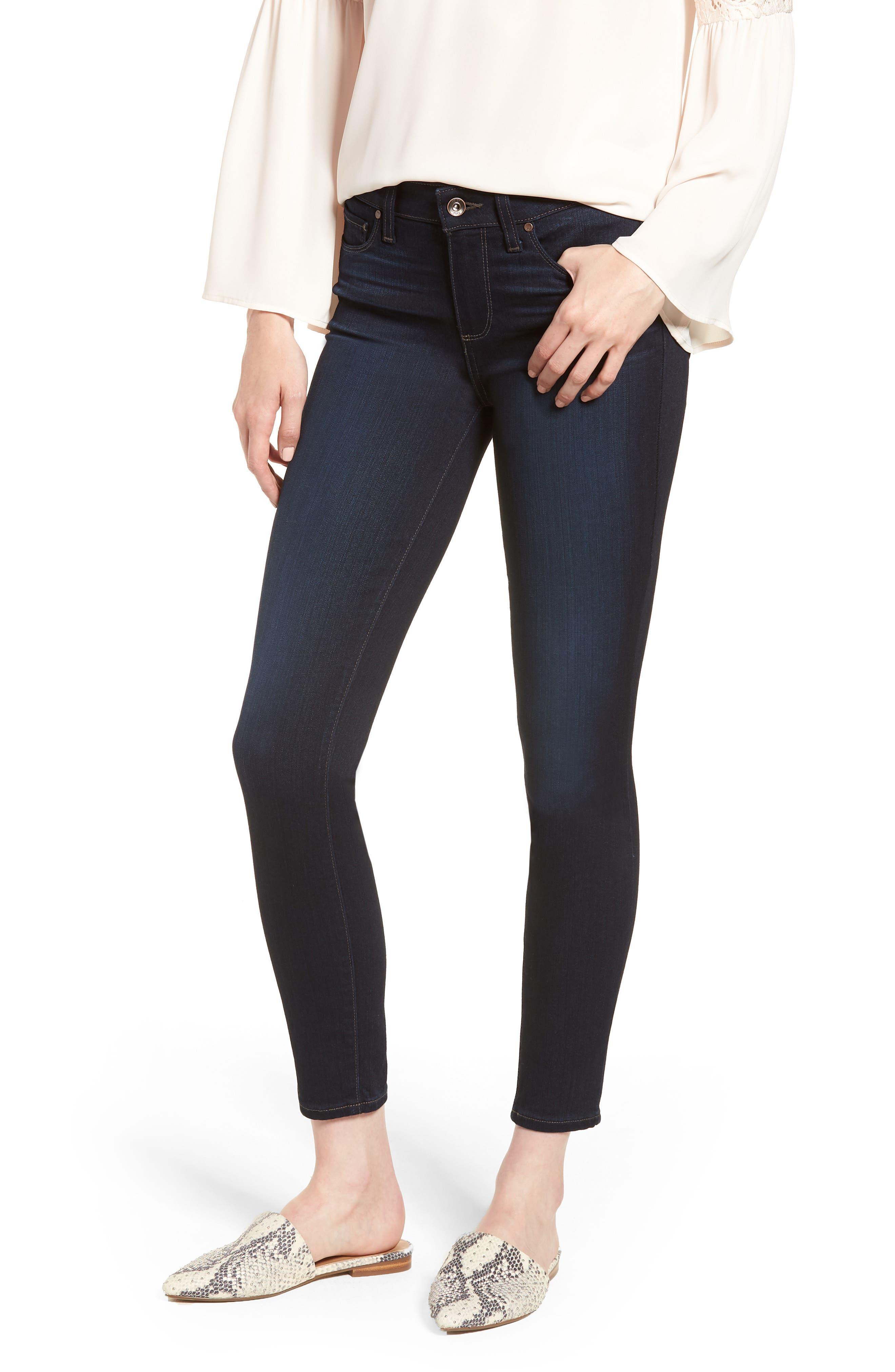 Transcend - Verdugo Ankle Skinny Jeans,                             Main thumbnail 1, color,                             RENNA