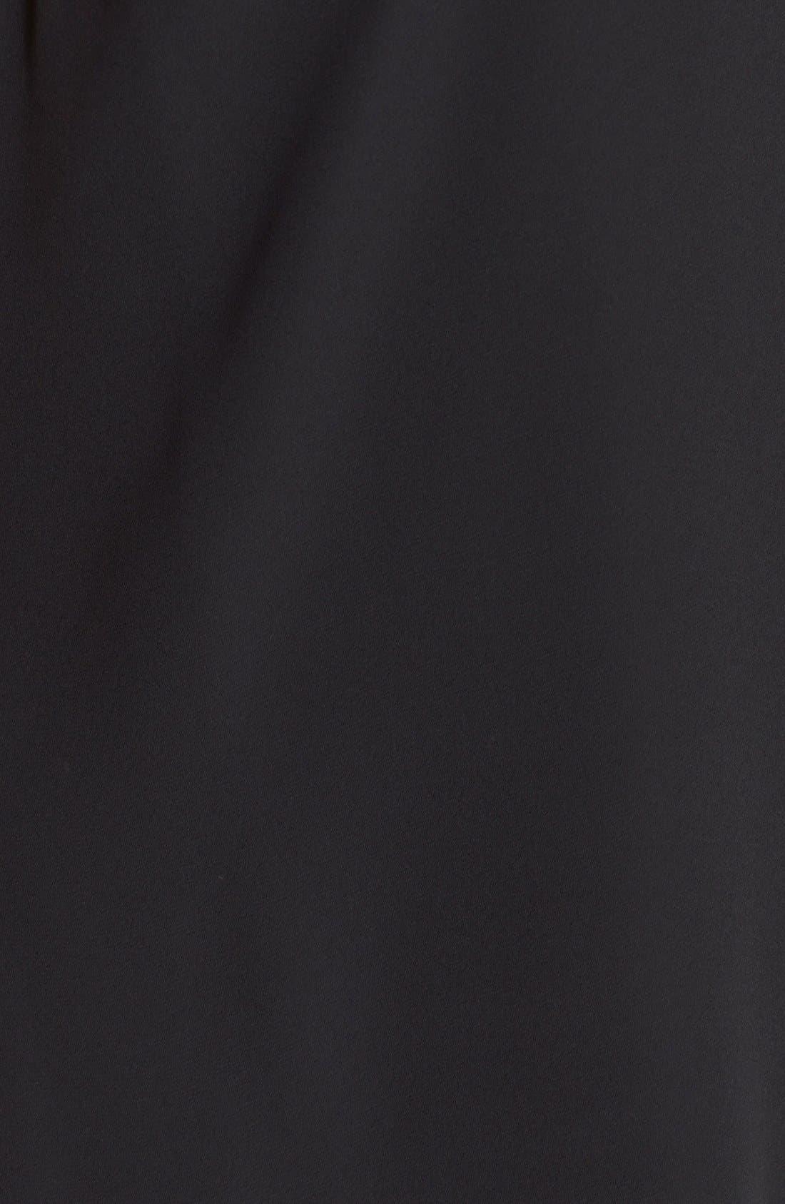 Pleat Front V-Neck Sleeveless Blouse,                             Alternate thumbnail 6, color,                             RICH BLACK