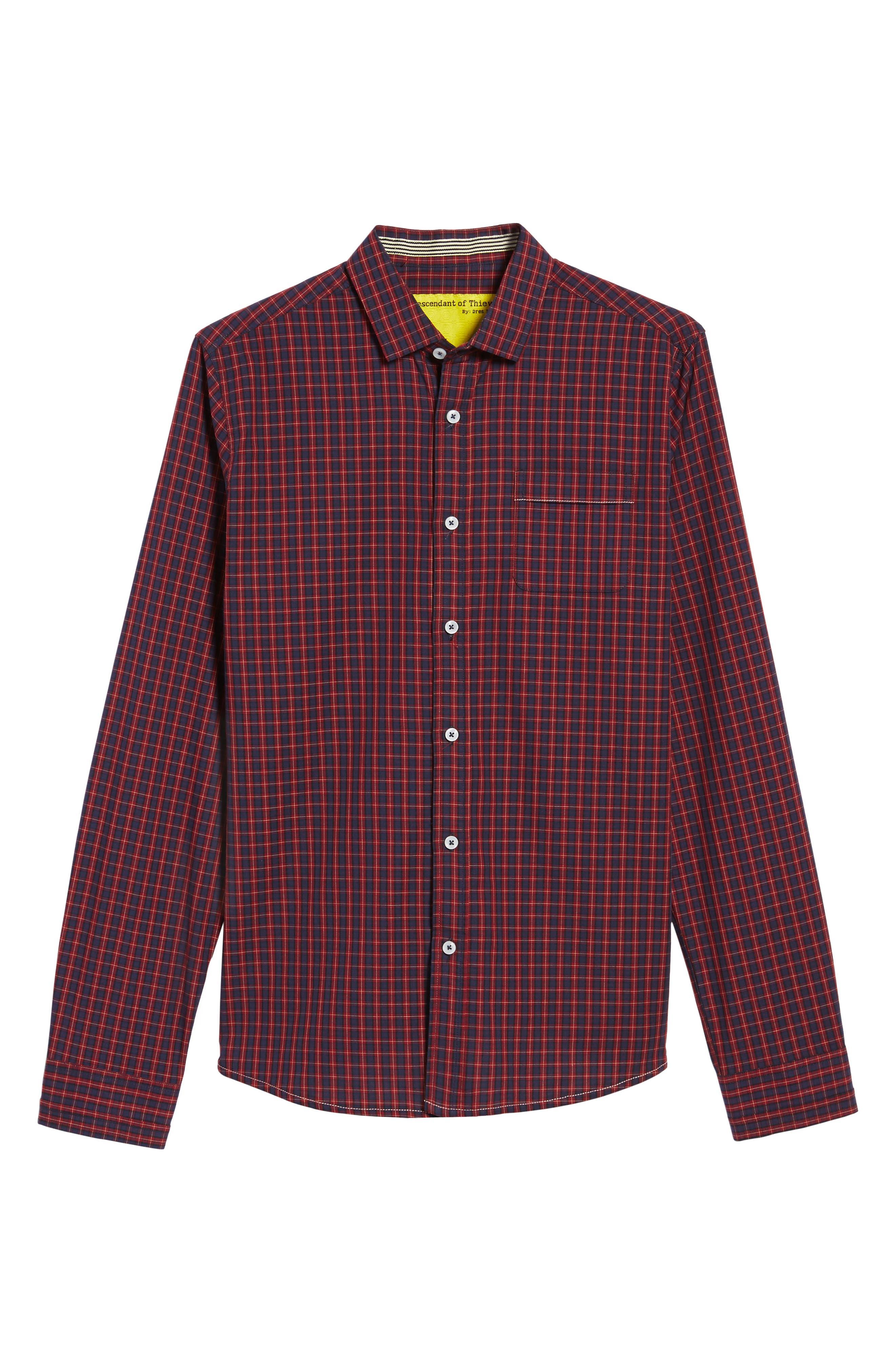 Tinto Plaid Woven Shirt,                             Alternate thumbnail 6, color,                             600