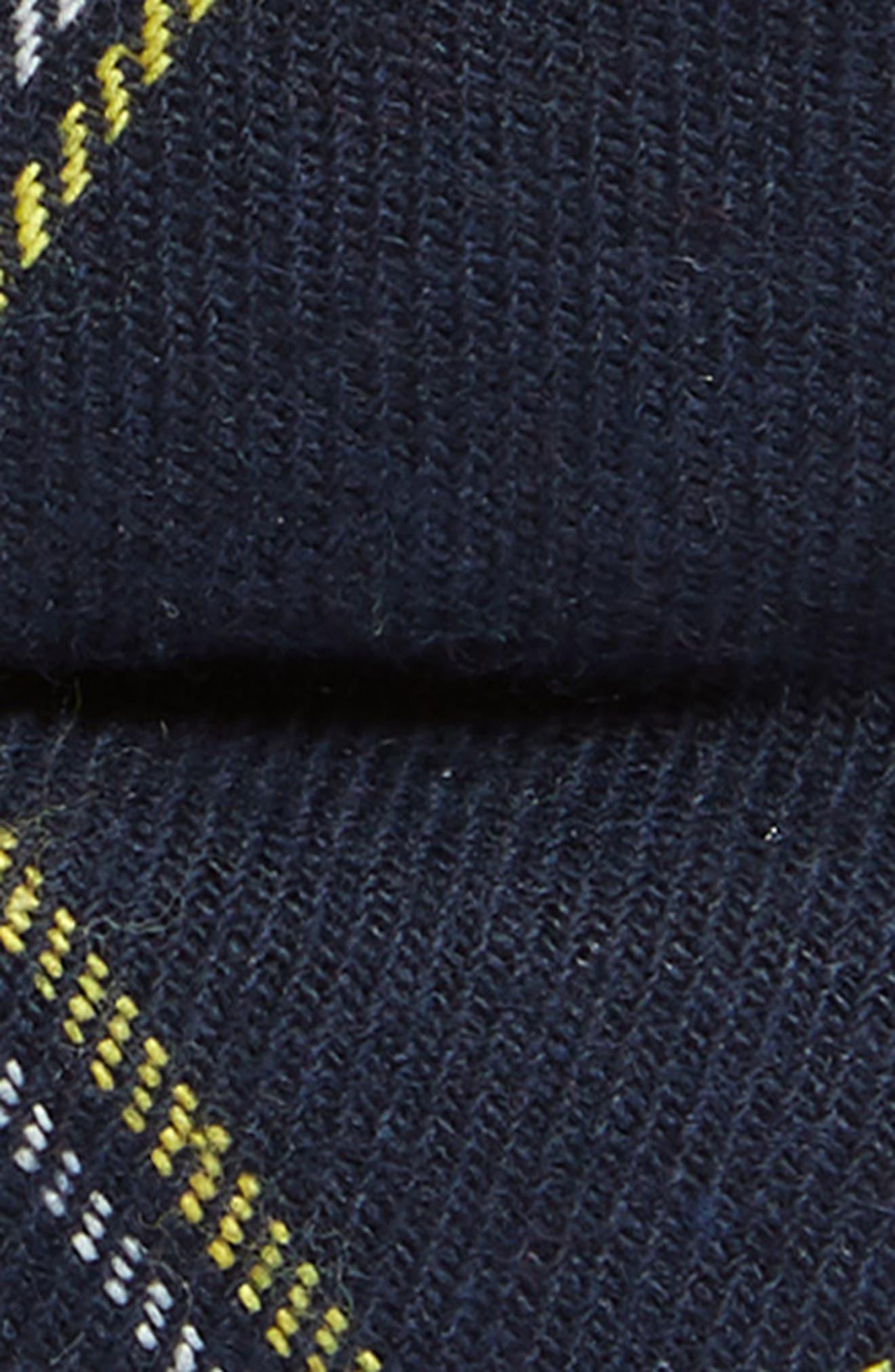 Plaid Cotton Blend Bow Tie,                             Alternate thumbnail 2, color,                             NAVY