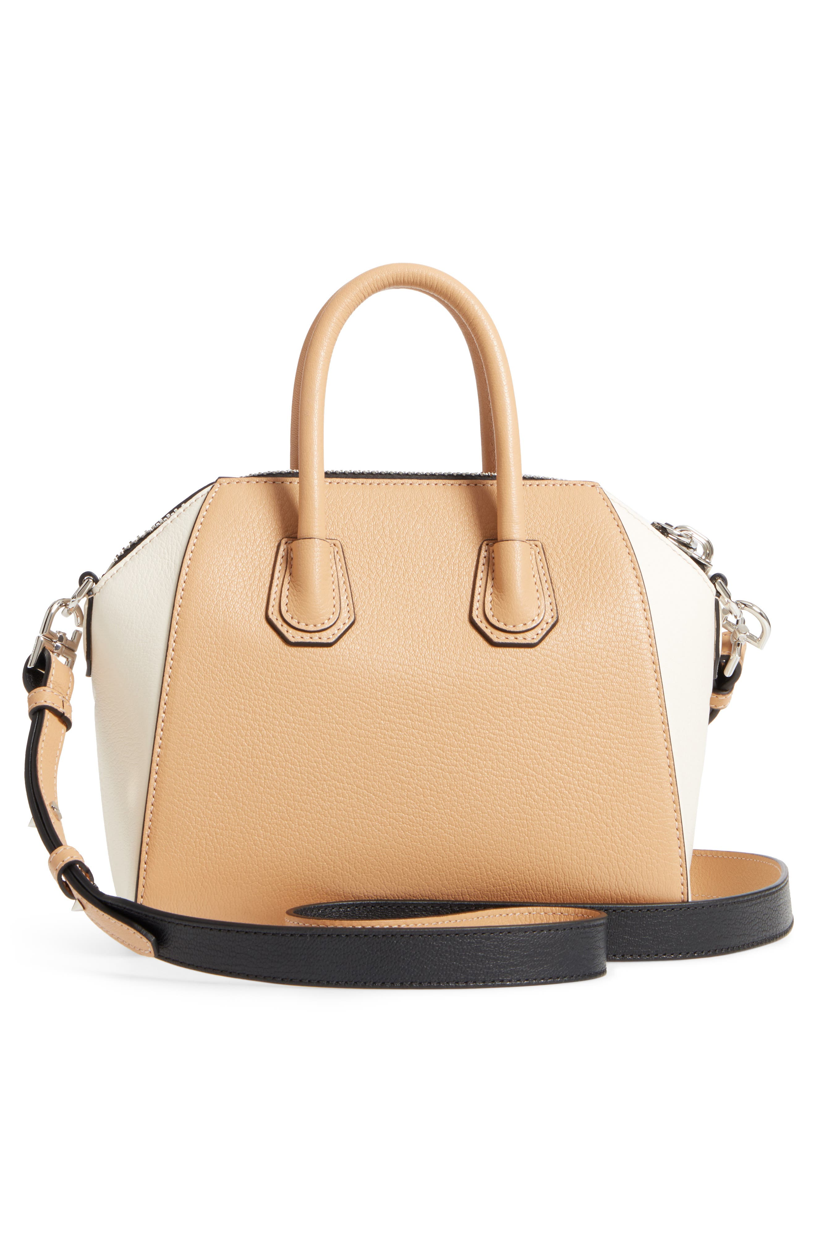 Mini Antigona Bicolor Sugar Leather Satchel,                             Alternate thumbnail 5, color,