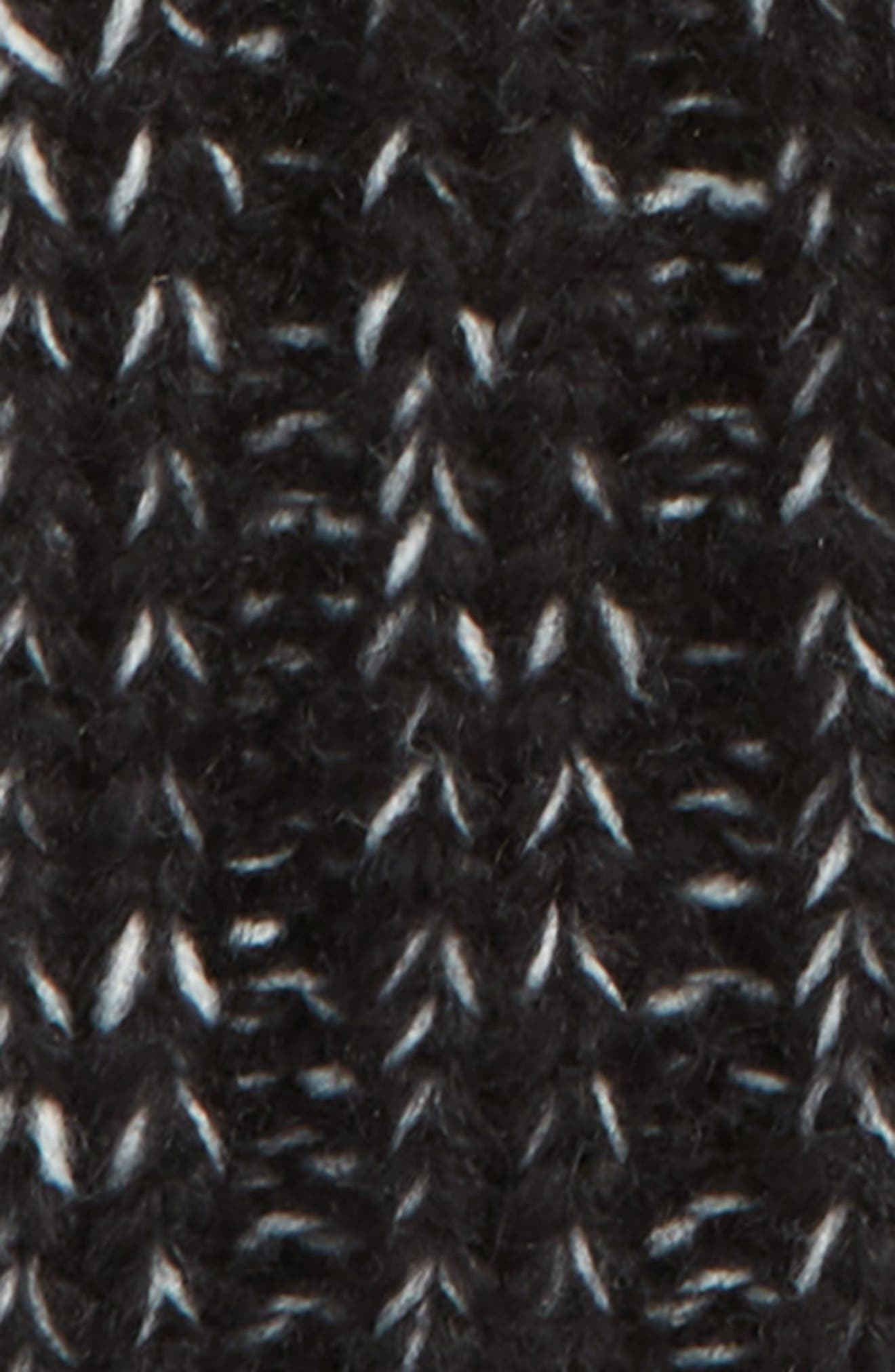 Beanie with Genuine Fox Fur Pom,                             Alternate thumbnail 2, color,                             001