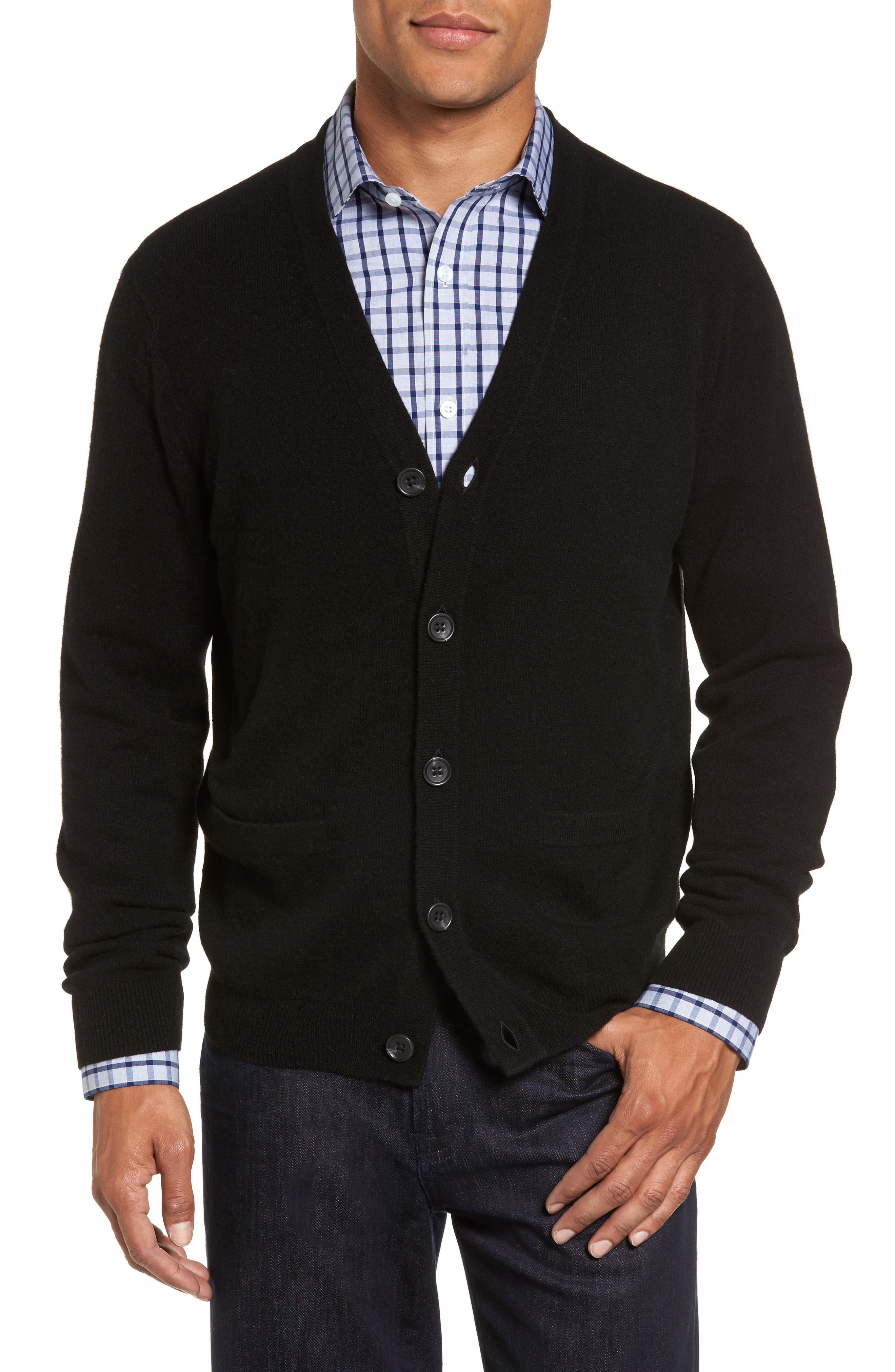 Nordstrom Shop Cashmere Button Front Cardigan