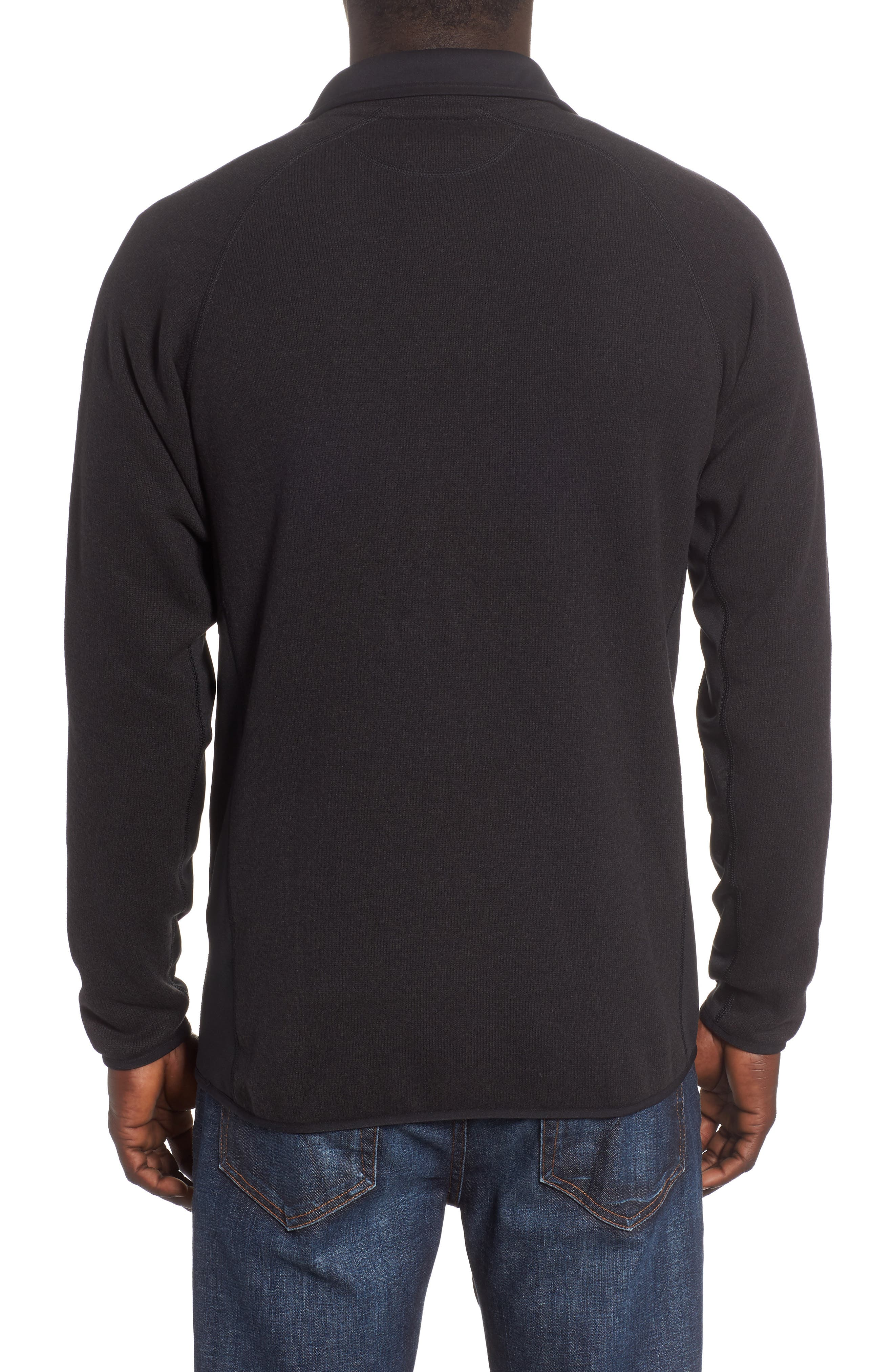 Better Sweater<sup>®</sup> Performance Slim Quarter-Zip Pullover,                             Alternate thumbnail 2, color,                             BLACK