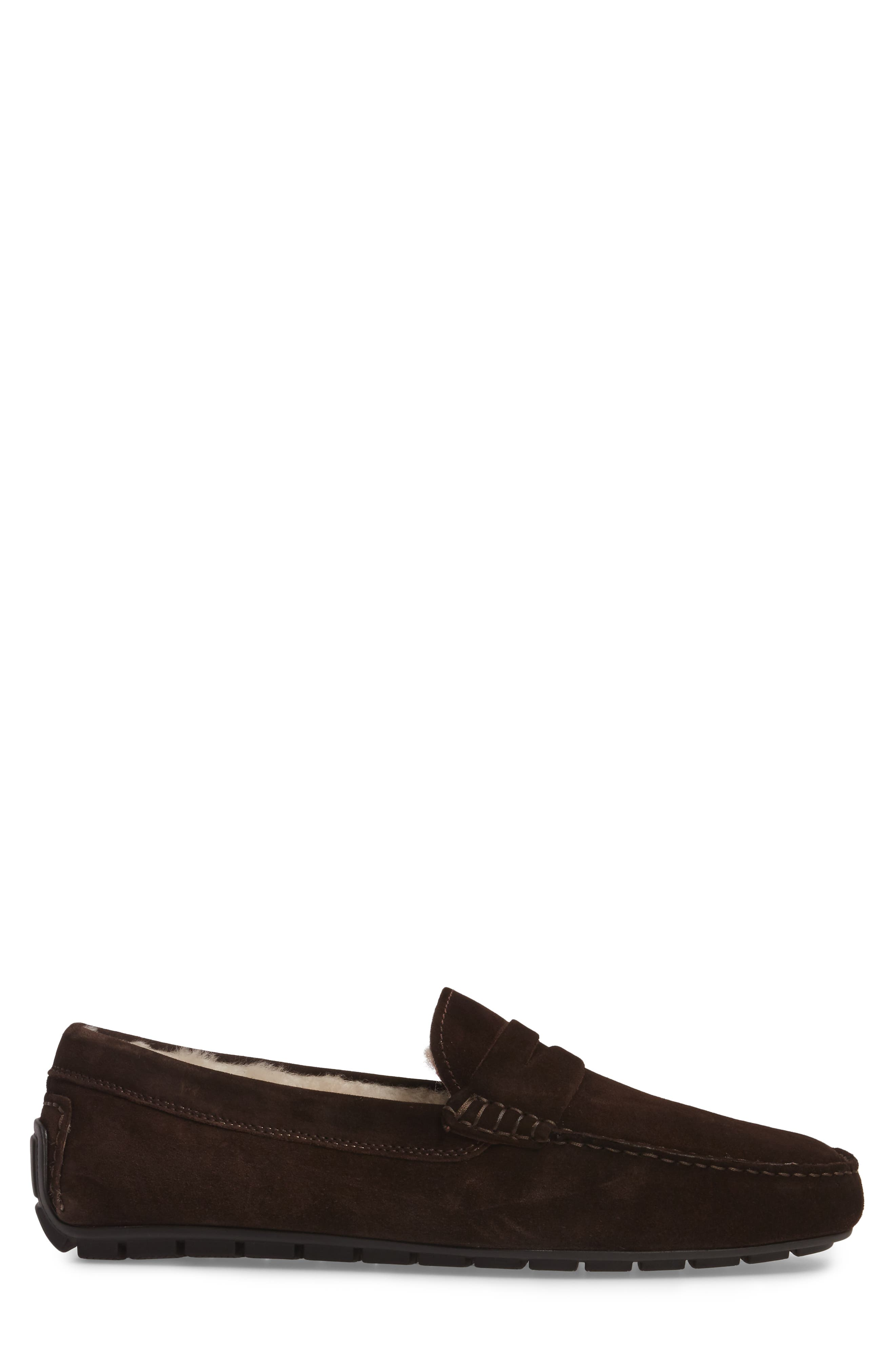 Norse Penny Loafer with Genuine Shearling,                             Alternate thumbnail 6, color,