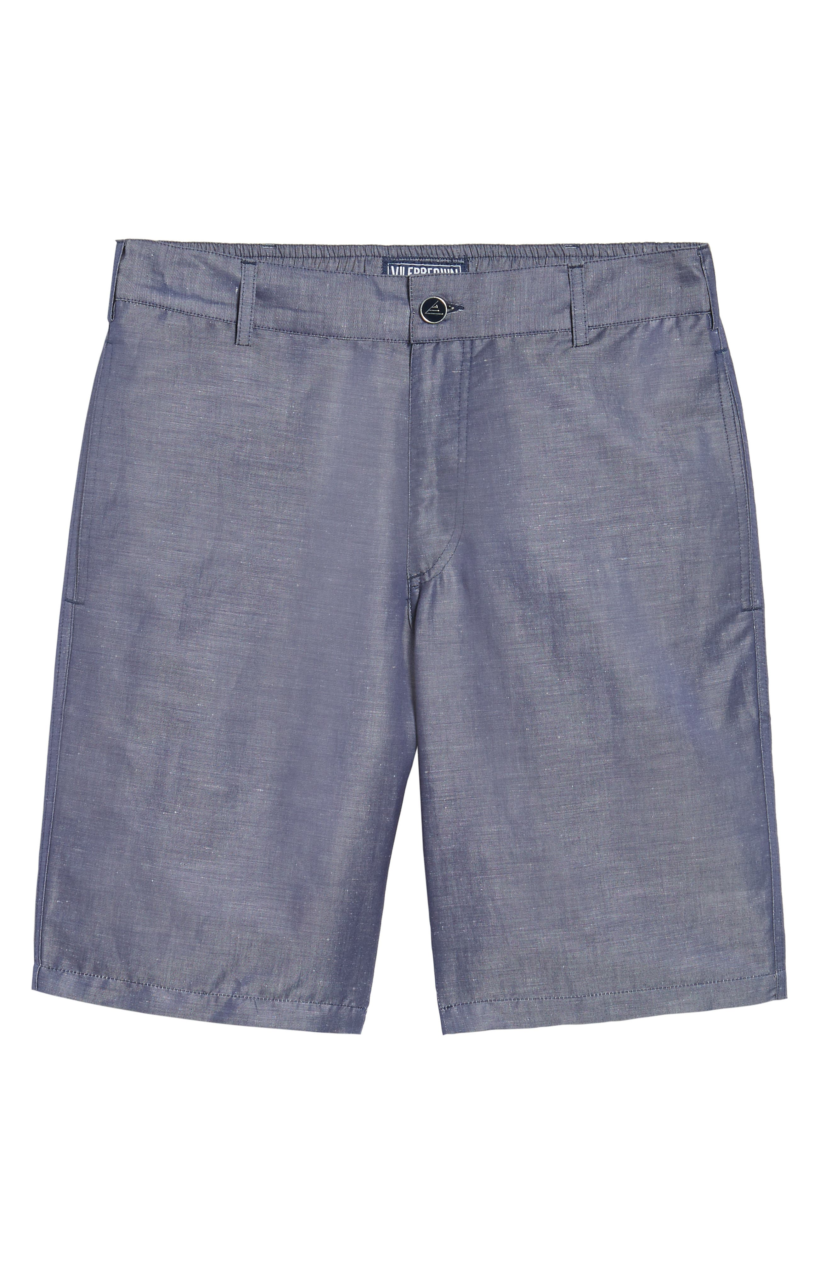 Linen Blend Bermuda Shorts,                             Alternate thumbnail 6, color,                             401