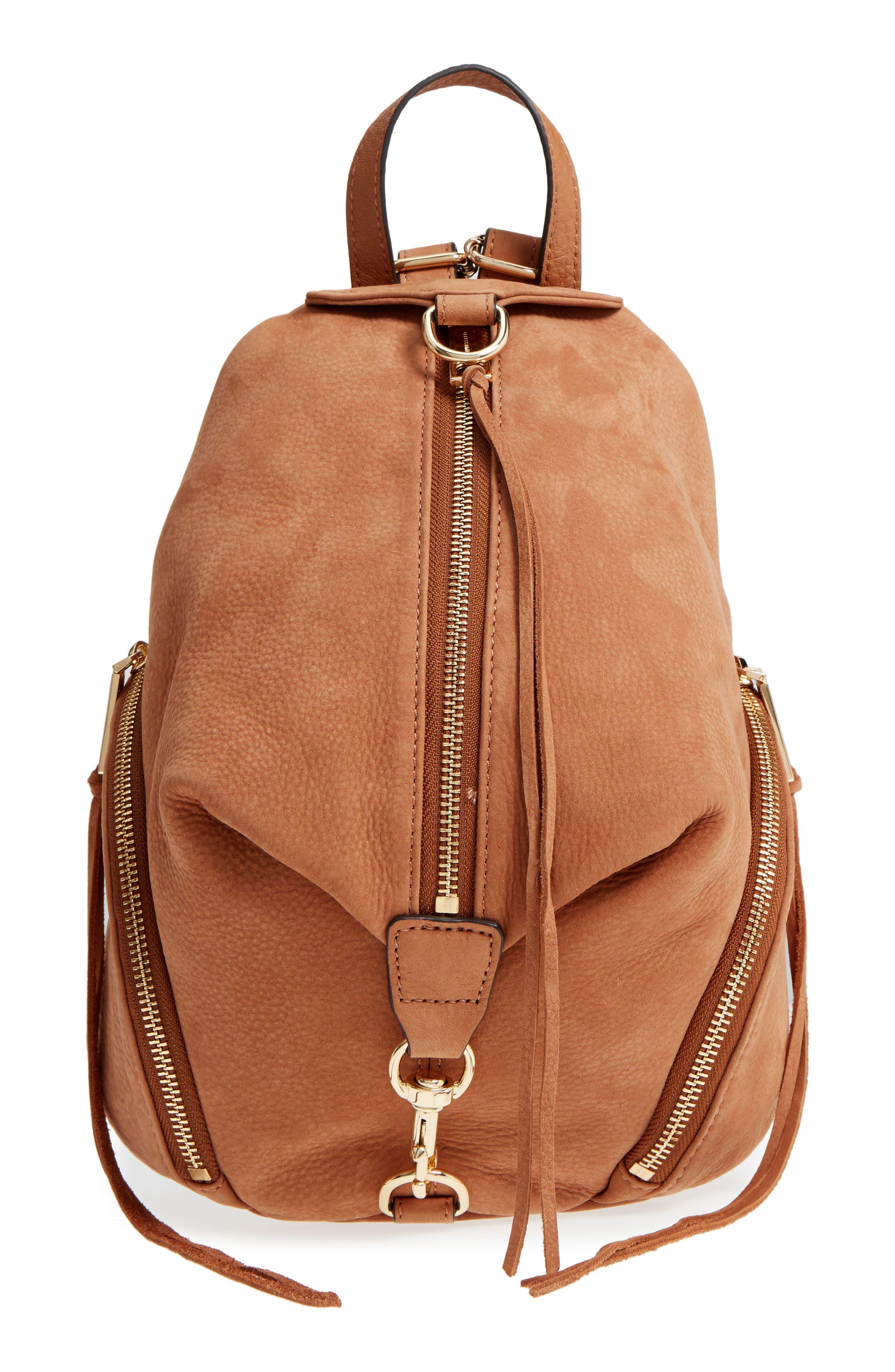 Medium Julian Nubuck Backpack,                         Main,                         color, 230