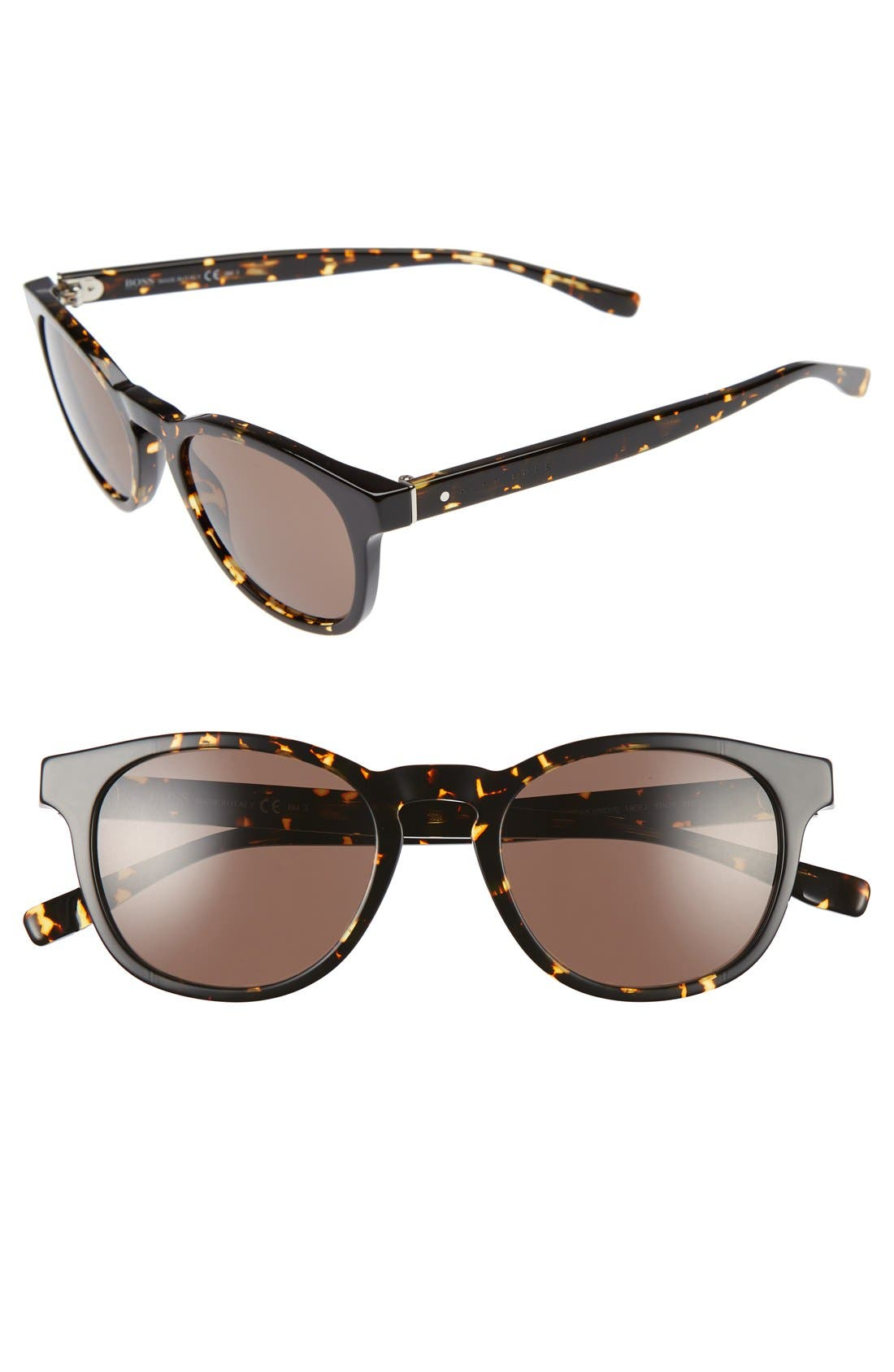 '0803/S' 51mm Sunglasses,                         Main,                         color, BLACK/ HAVANA
