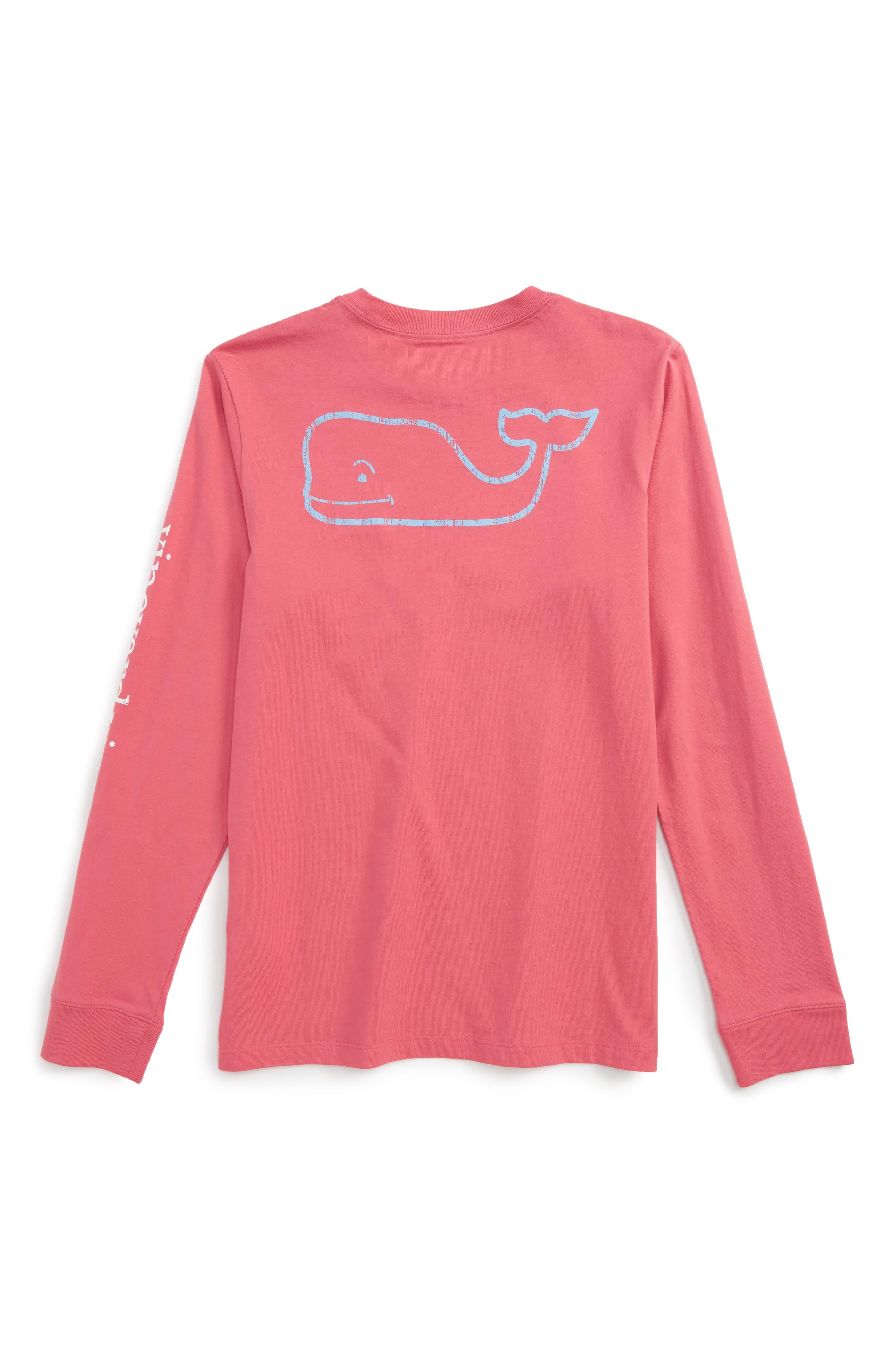 Vintage Whale Long Sleeve Pocket T-Shirt,                             Main thumbnail 7, color,