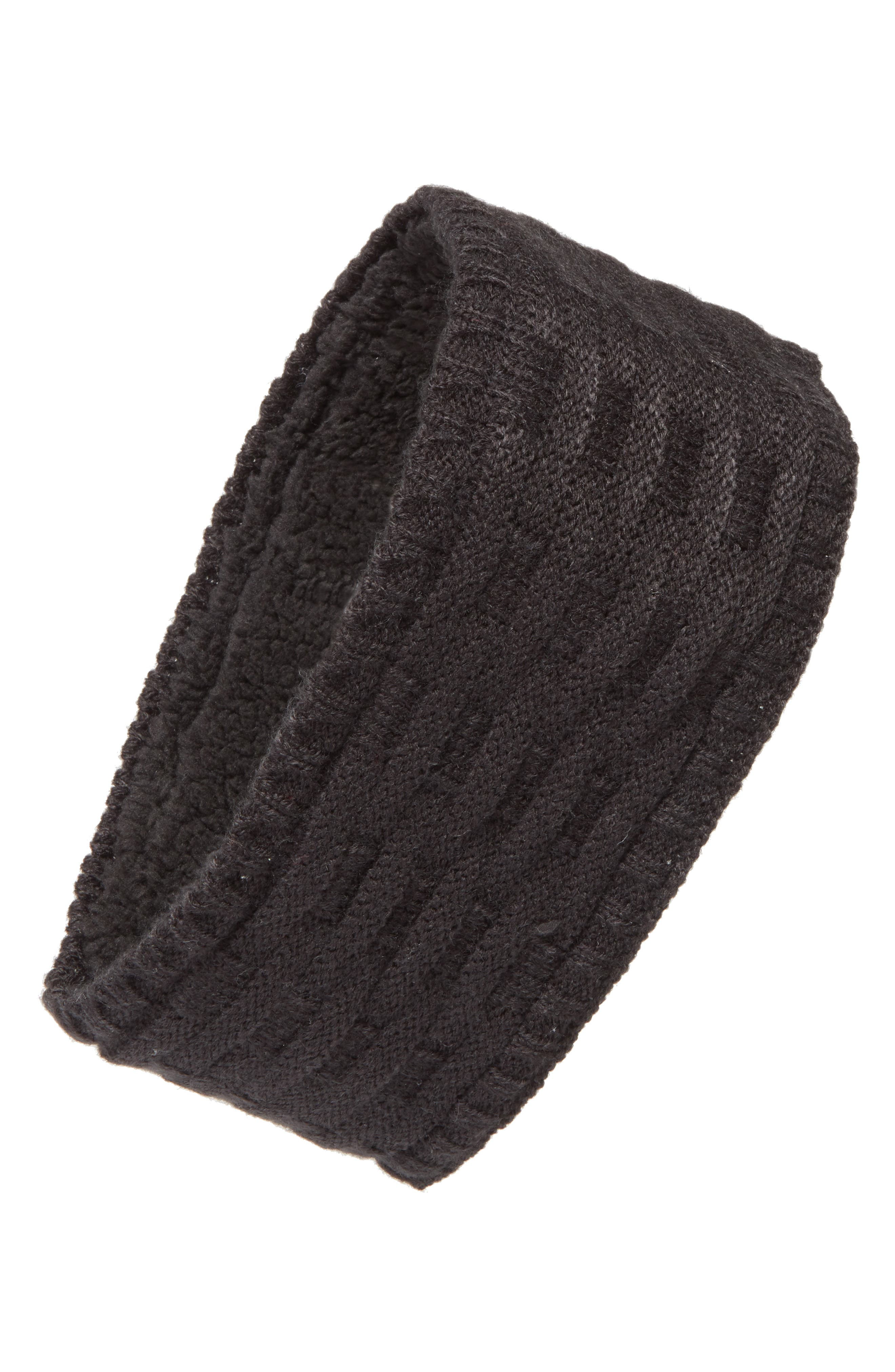Cross Cable Knit Headband,                         Main,                         color,
