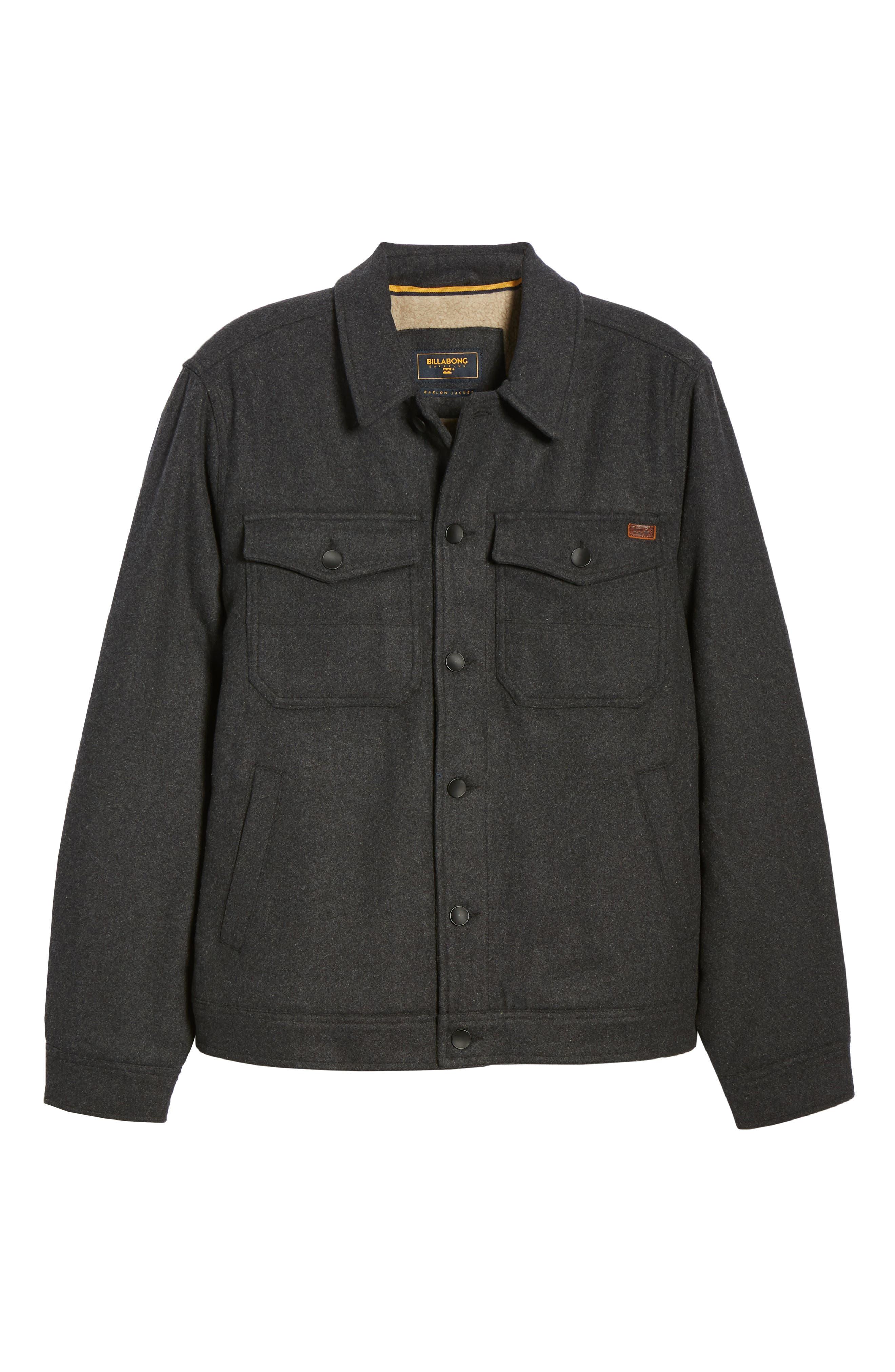 Barlow Jacket,                             Alternate thumbnail 3, color,                             BLACK HEATHER