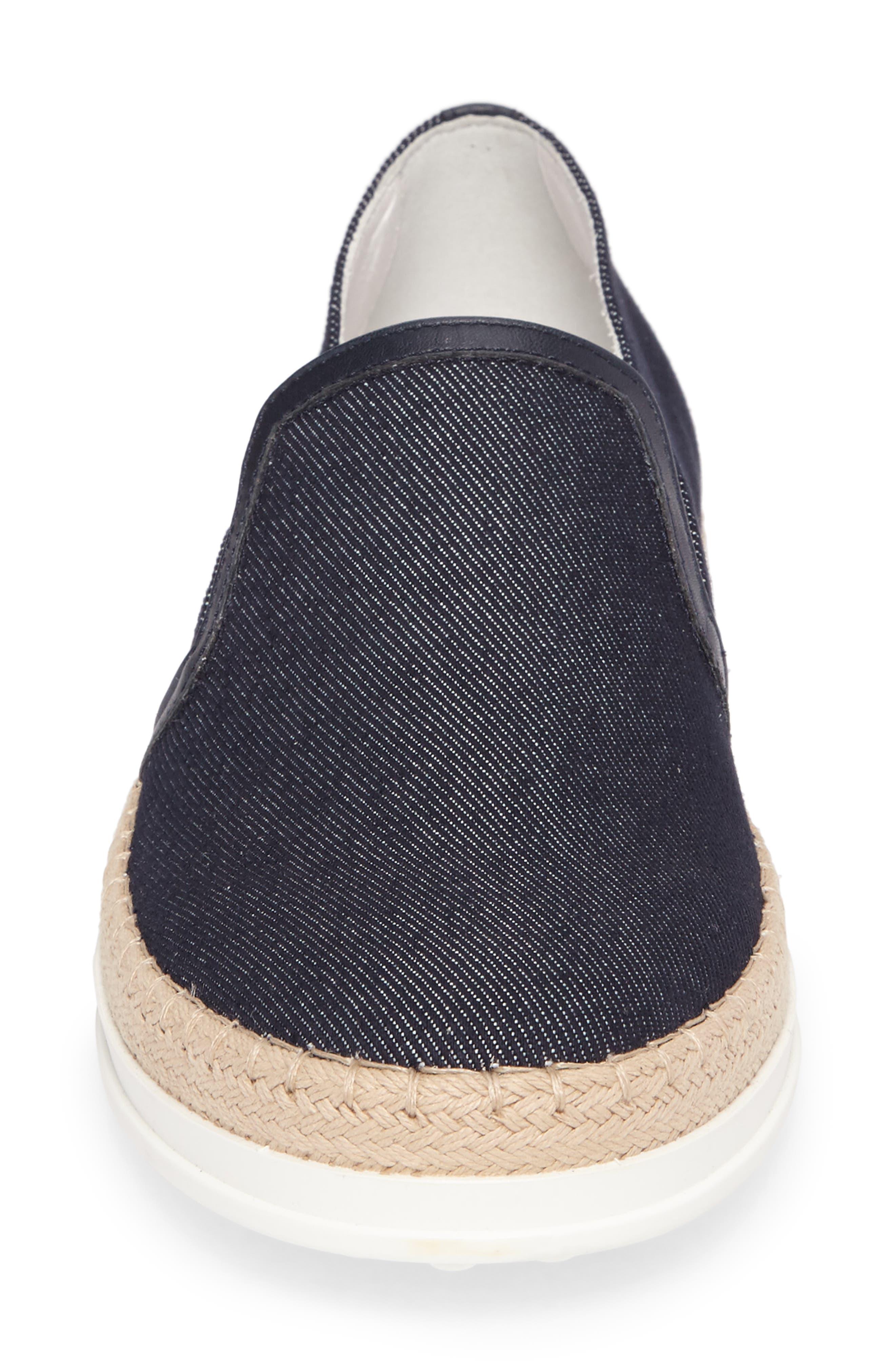 Espadrille Slip-On Sneaker,                             Alternate thumbnail 4, color,