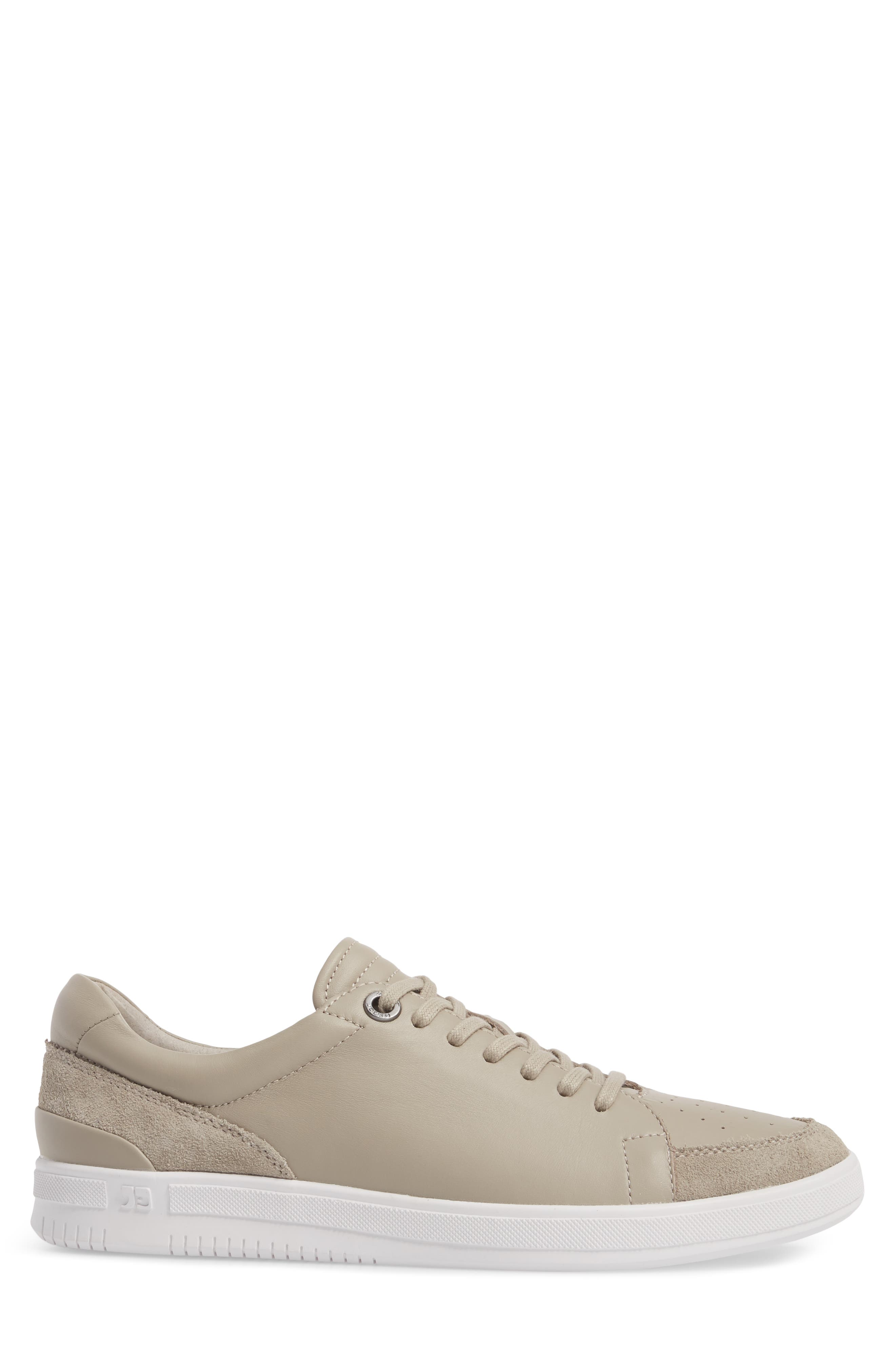 Joe Classic Low Top Sneaker,                             Alternate thumbnail 3, color,                             STONE LEATHER
