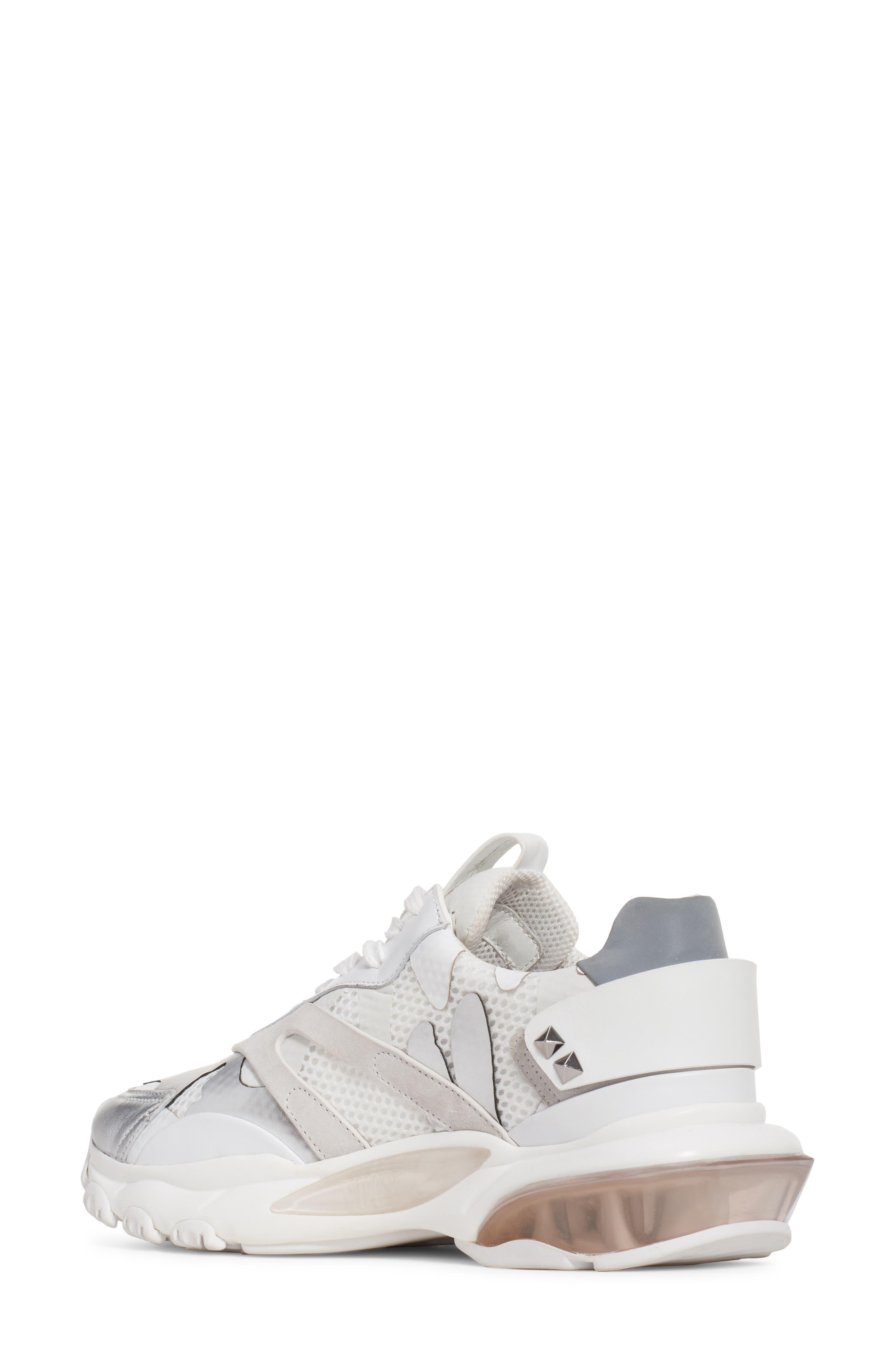 Camo Sneaker,                             Alternate thumbnail 2, color,                             WHITE