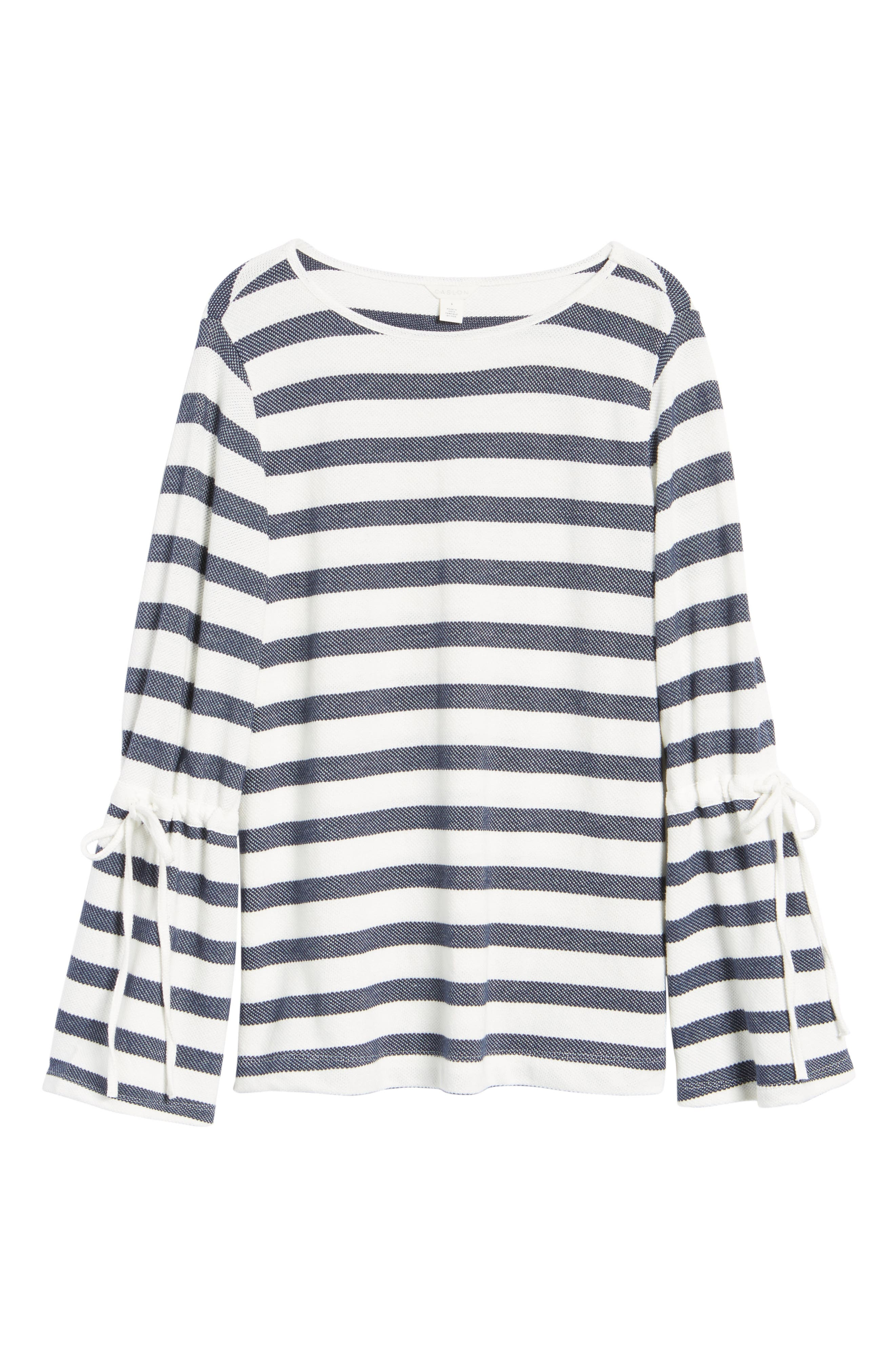 Stripe Bell Sleeve Top,                             Alternate thumbnail 6, color,                             410