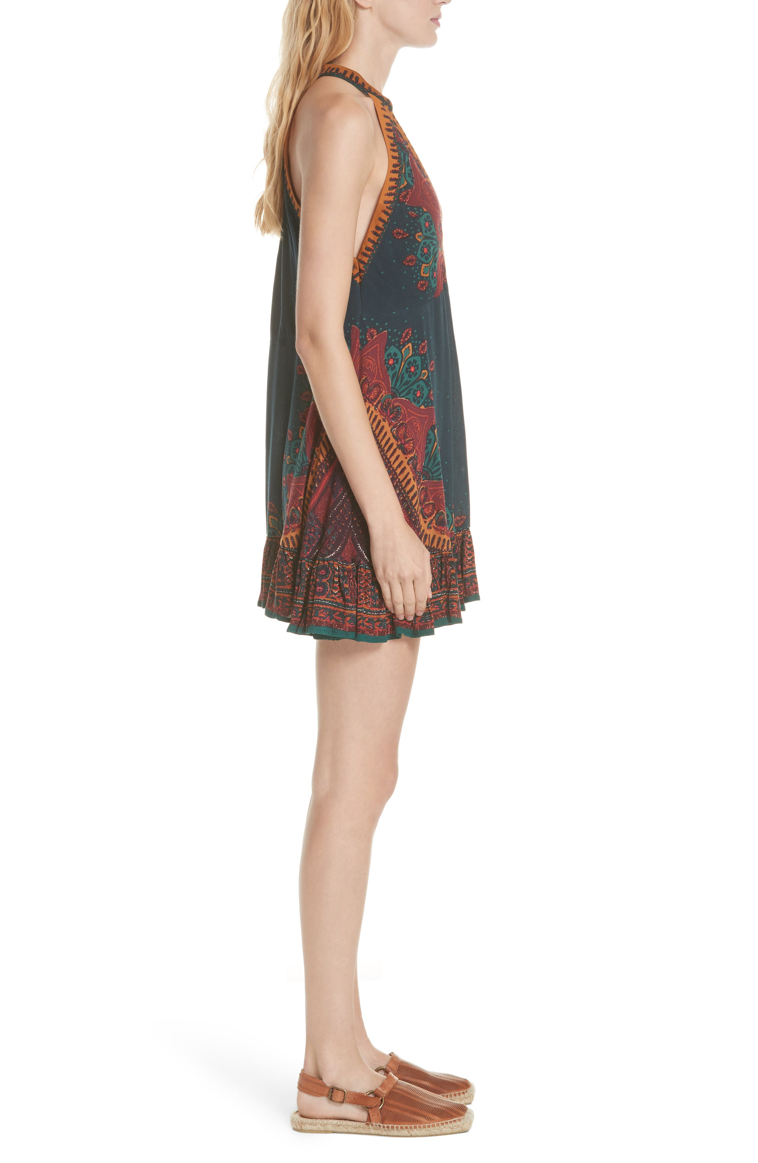 FREE PEOPLE,                             Steal the Sun Reversible Dress,                             Alternate thumbnail 3, color,                             400