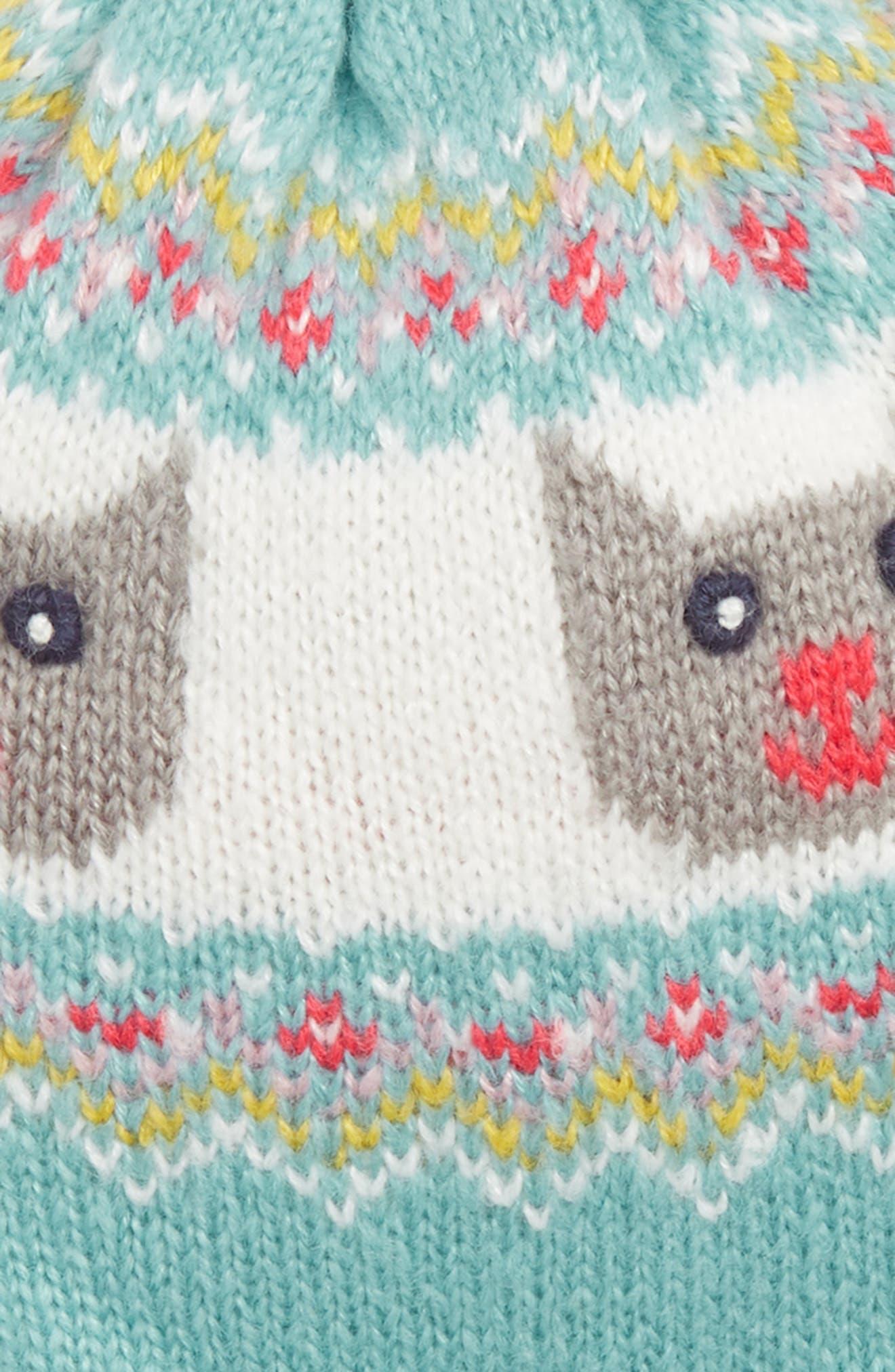 Mini Boden Knit Hat & Mitten Set,                             Alternate thumbnail 2, color,                             AQUAMARINE GREEN