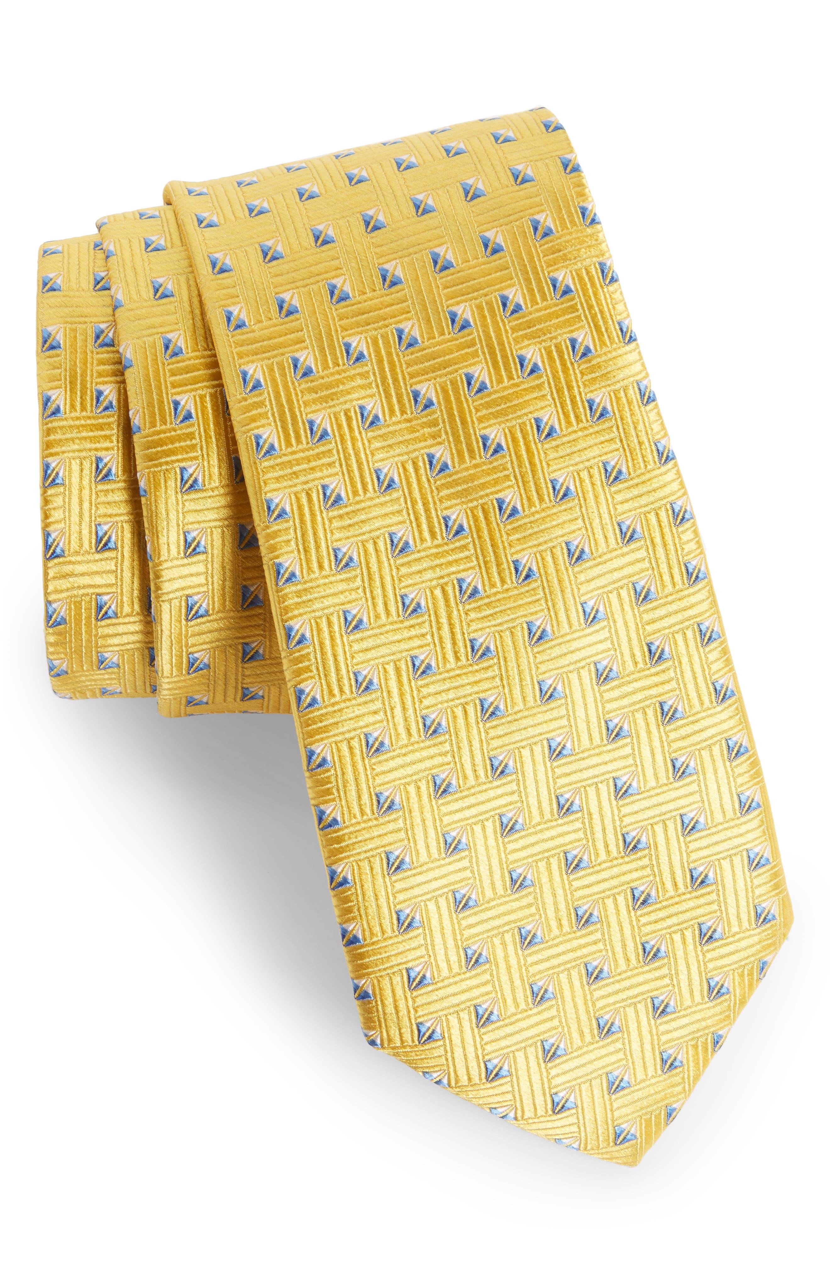 Geometric Silk Tie,                             Main thumbnail 6, color,