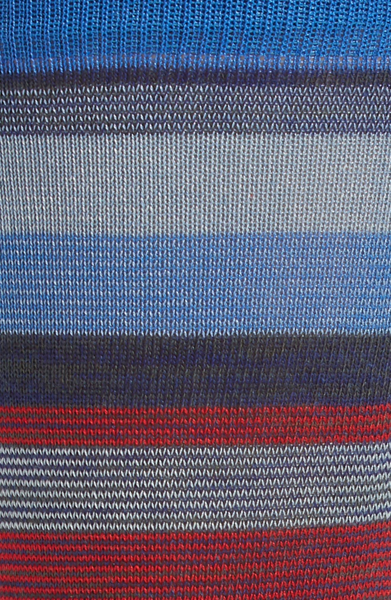 Stripe Socks,                             Alternate thumbnail 2, color,                             COBALT