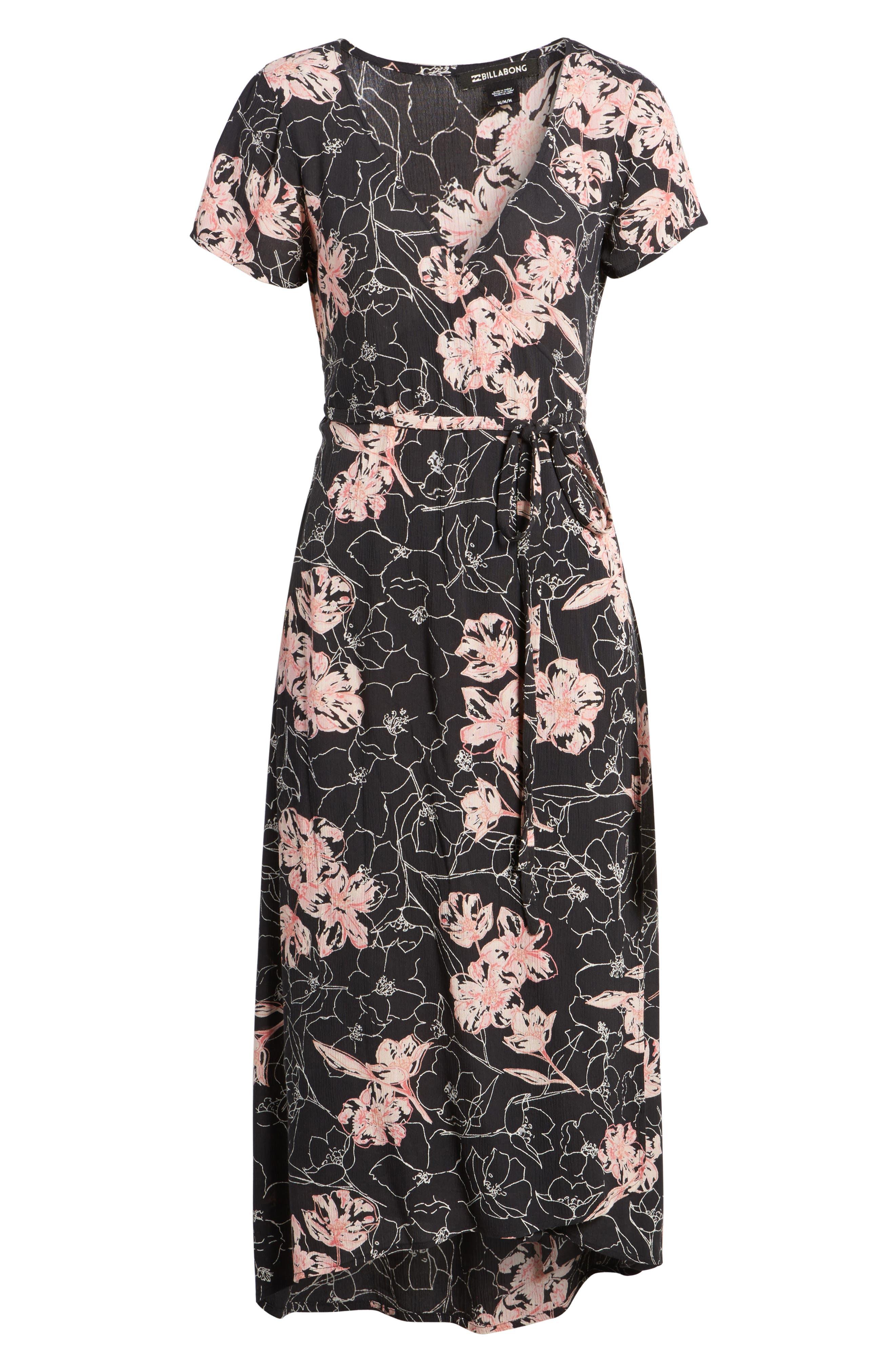 Wrap Me Up Midi Dress,                             Alternate thumbnail 6, color,                             001