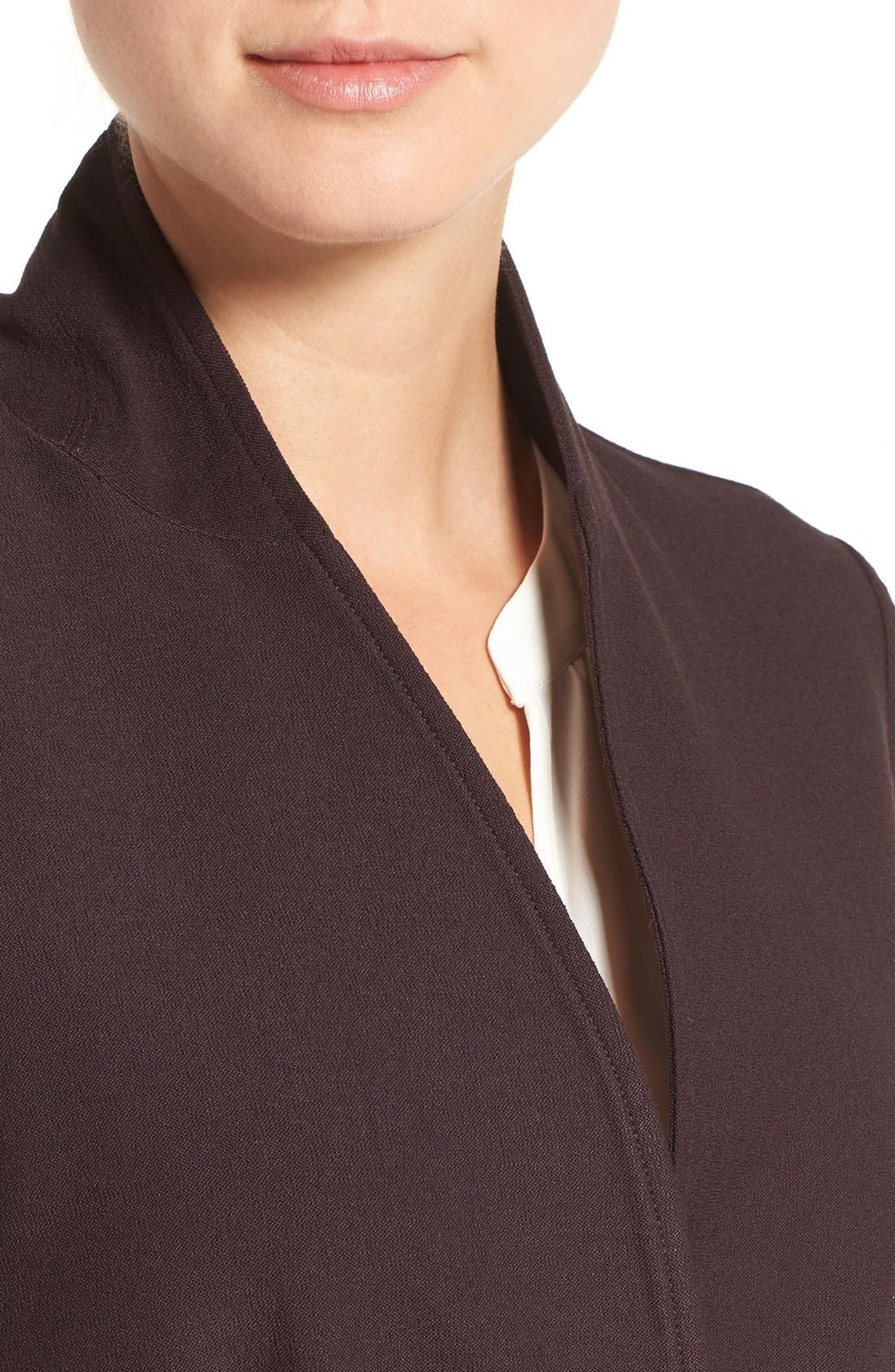 Washable Stretch Crepe Stand Collar Jacket,                             Alternate thumbnail 8, color,