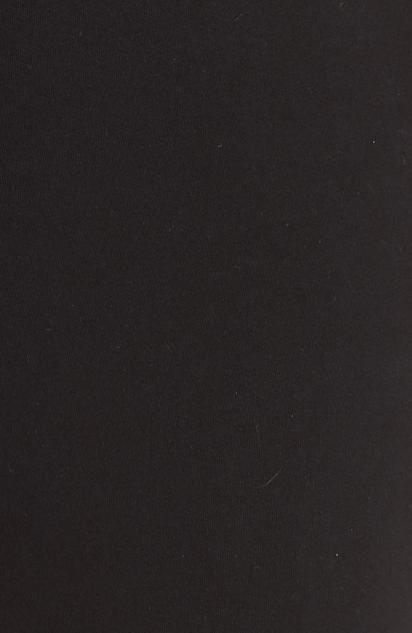 Moto Sweatpants,                             Alternate thumbnail 6, color,                             BLACK