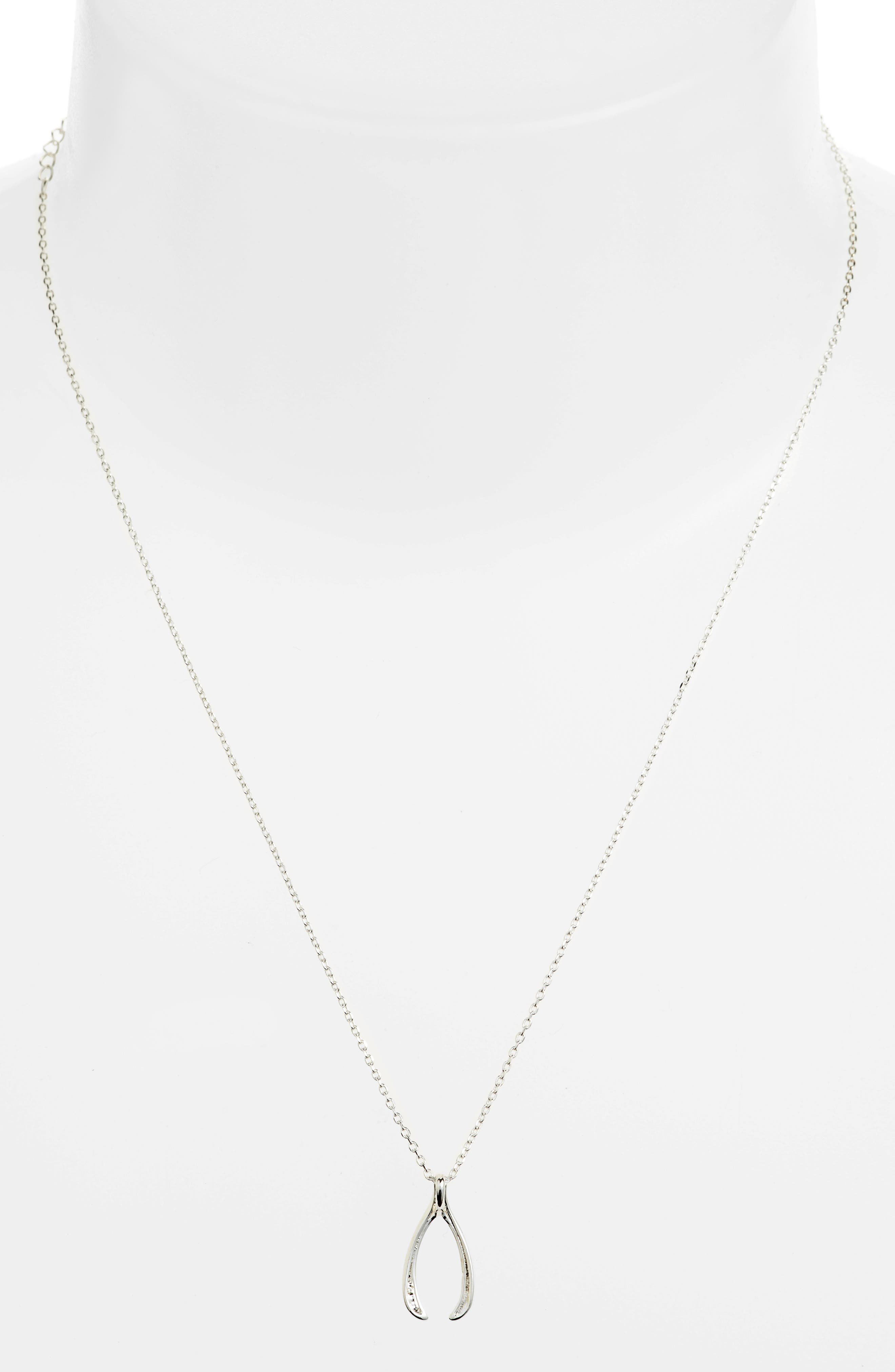 Lucky Wishbone Necklace,                             Alternate thumbnail 2, color,                             040