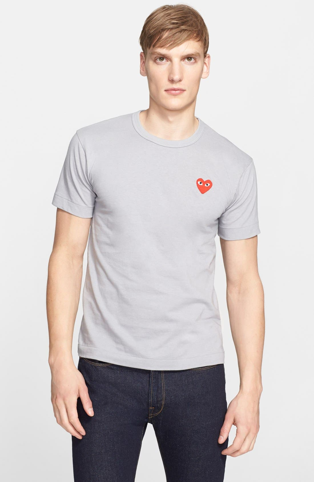 Cotton Jersey T-Shirt,                             Main thumbnail 1, color,                             020