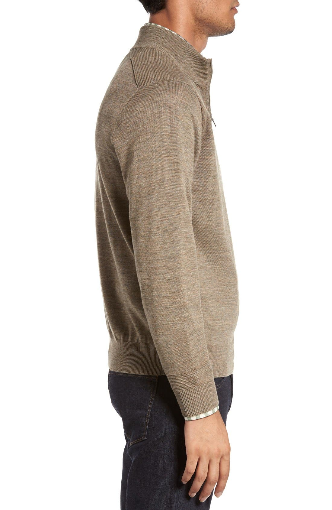 Douglas Quarter Zip Wool Blend Sweater,                             Alternate thumbnail 14, color,
