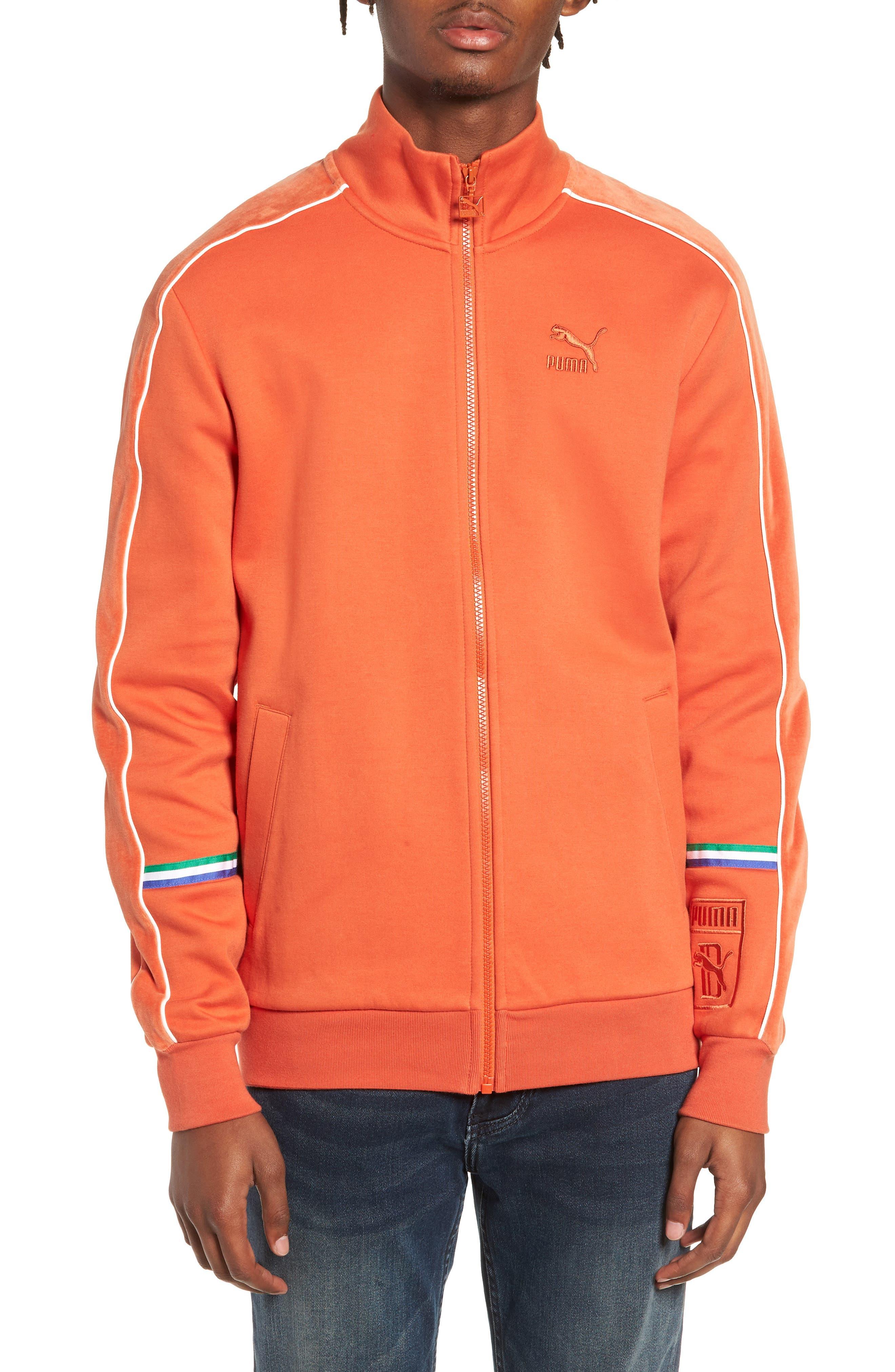 X Big Sean T7 Track Jacket,                         Main,                         color, BURNT OCHRE