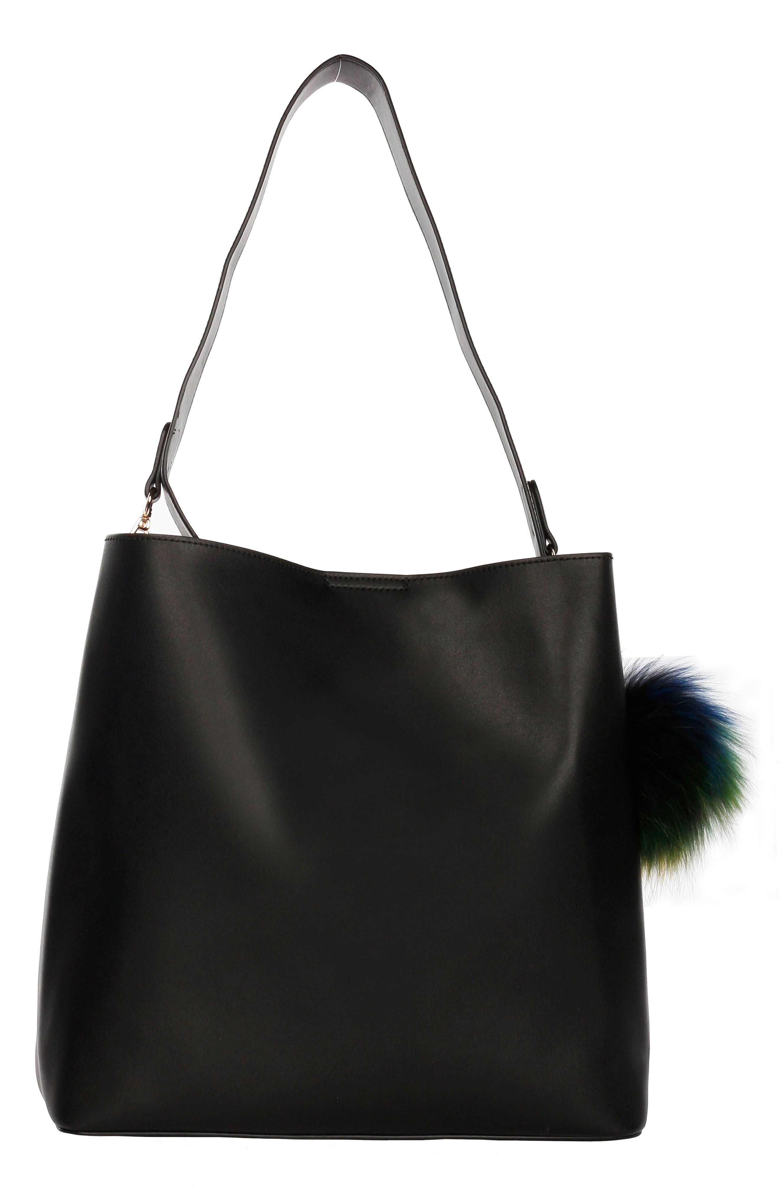 Céline Dion Pizzicato Faux Leather Hobo Bag,                             Alternate thumbnail 2, color,                             001