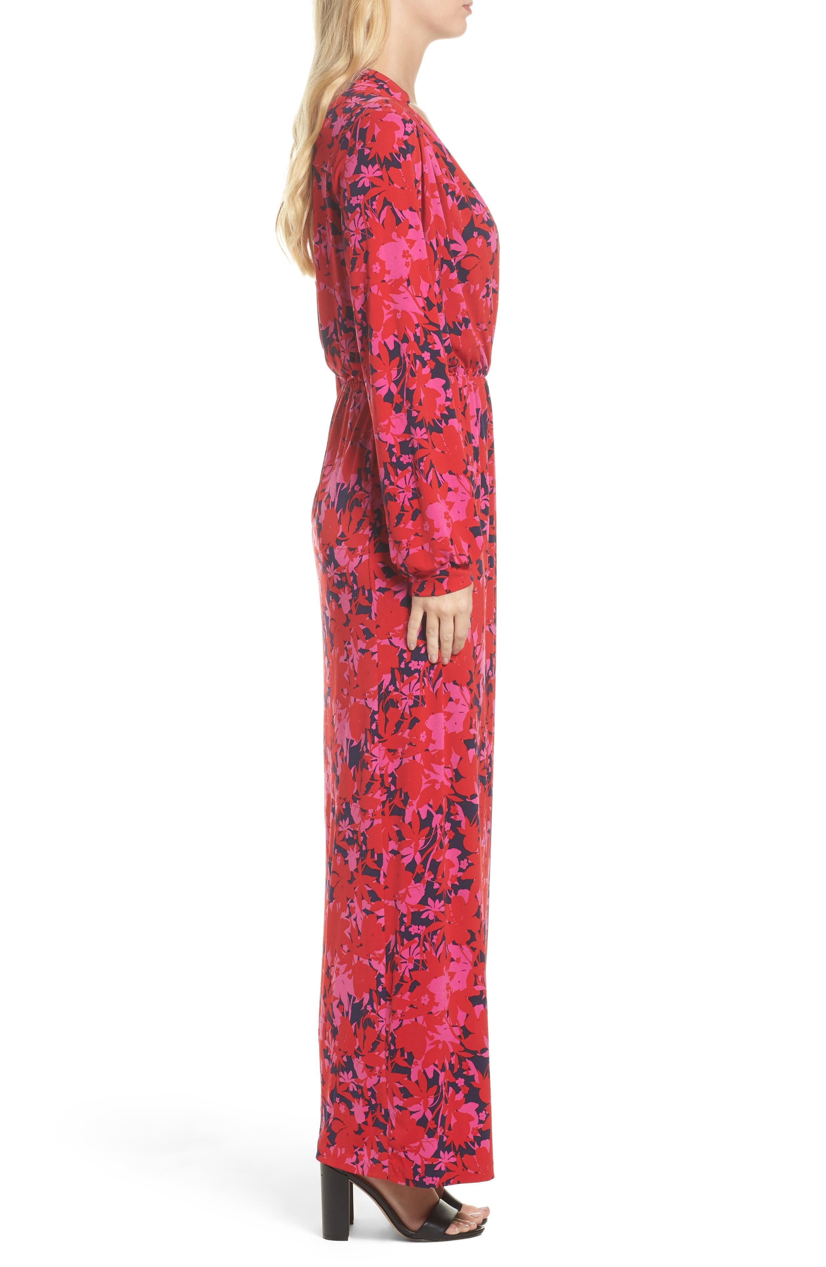 Bridget Faux Wrap Maxi Dress,                             Alternate thumbnail 3, color,                             613