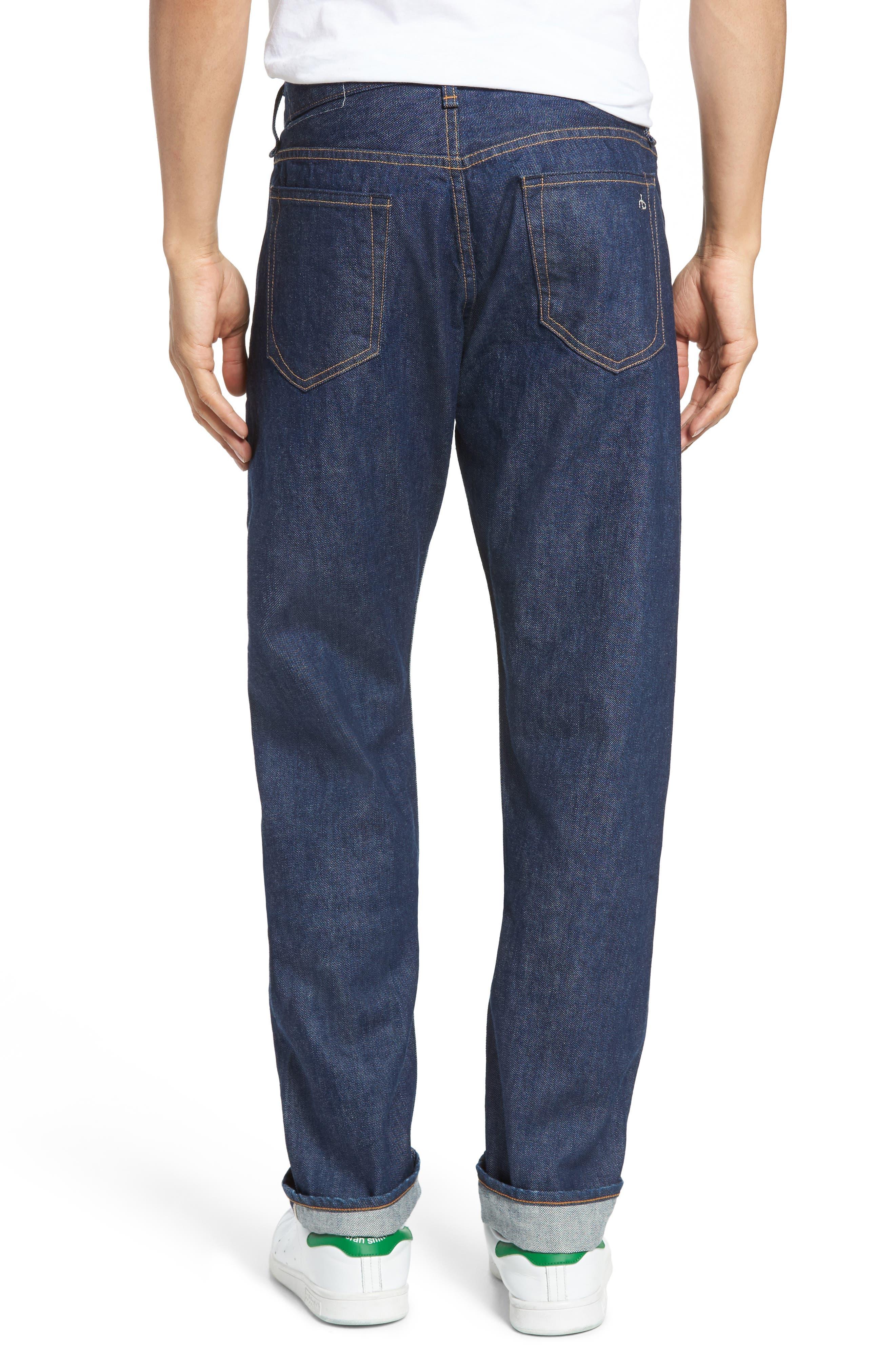 Fit 2 Slim Fit Selvedge Jeans,                             Alternate thumbnail 2, color,                             427