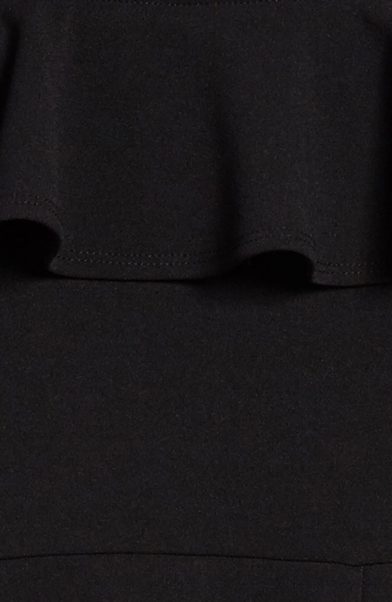 Illusion Yoke Skater Dress,                             Alternate thumbnail 3, color,