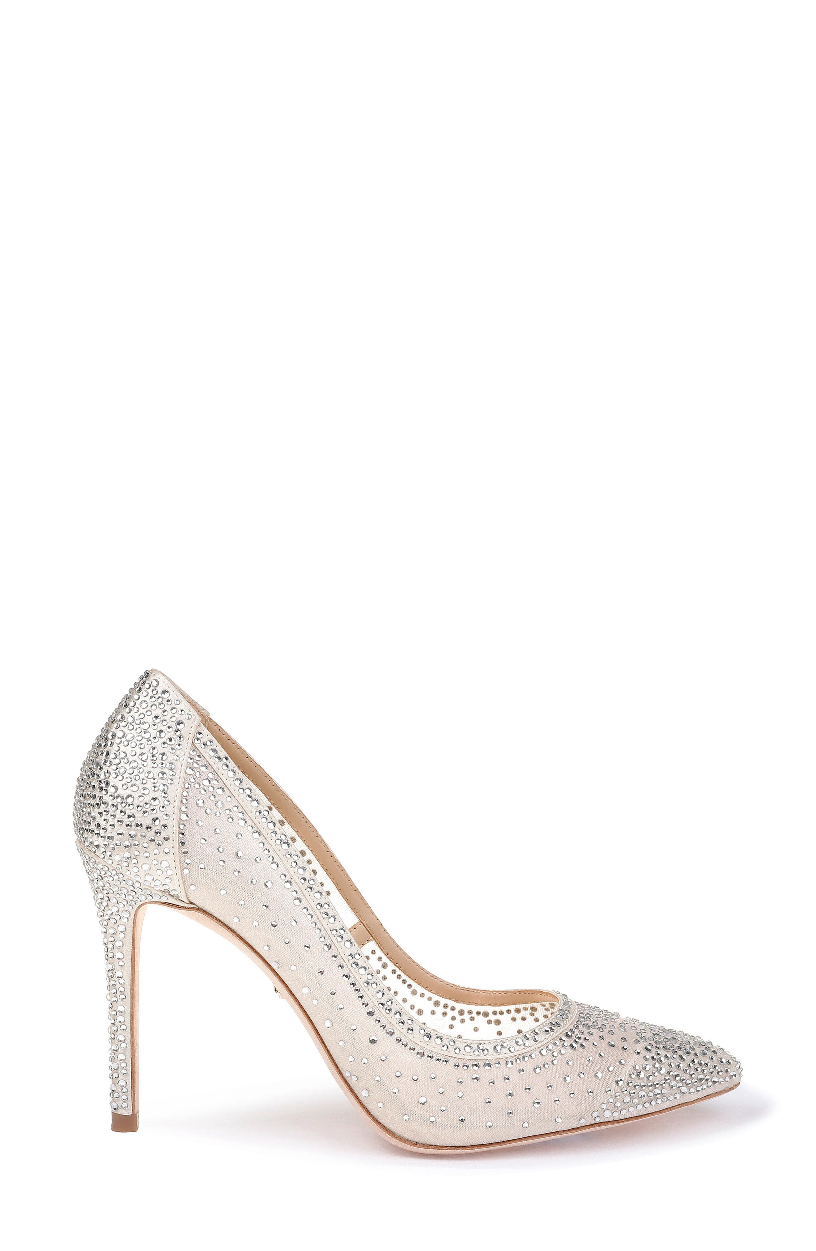 Weslee Pointy Toe Pump,                             Alternate thumbnail 3, color,                             IVORY SATIN