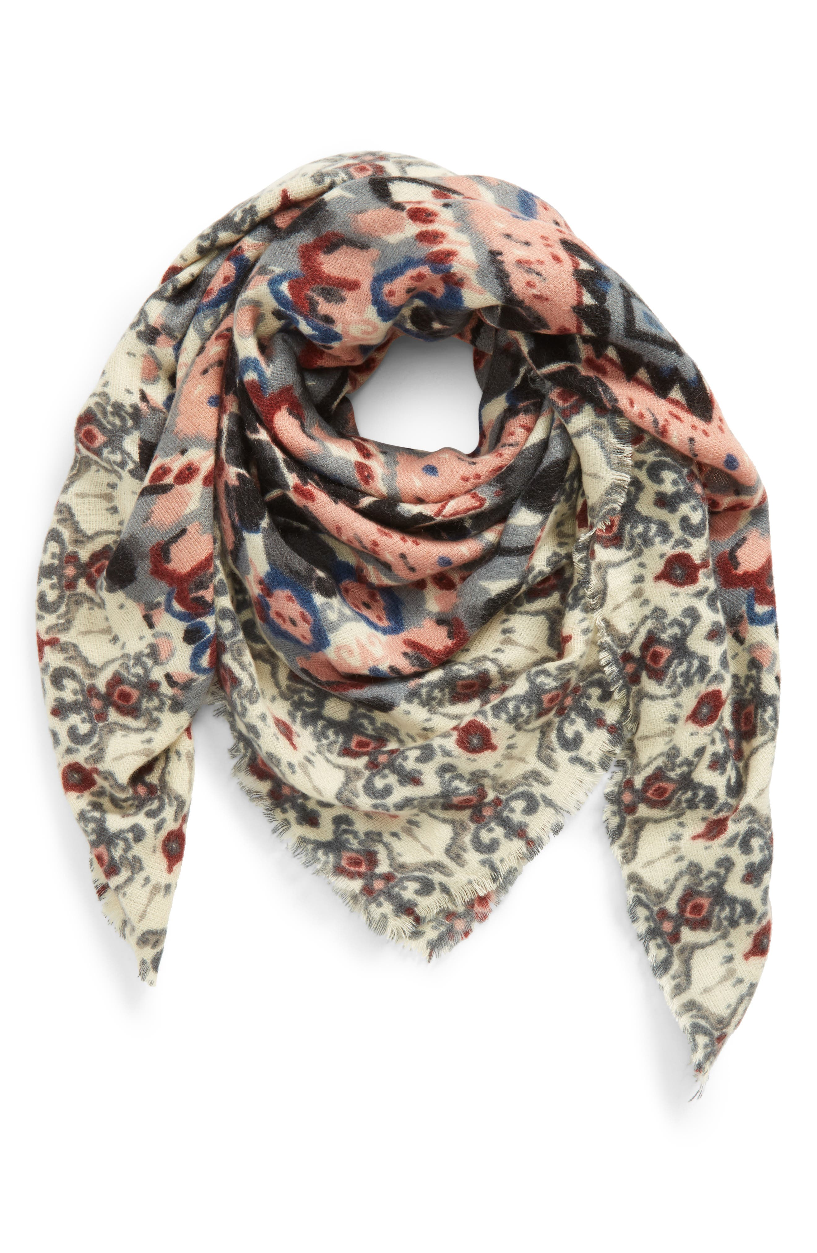 Baroque Pattern Wrap Scarf,                             Main thumbnail 1, color,                             692