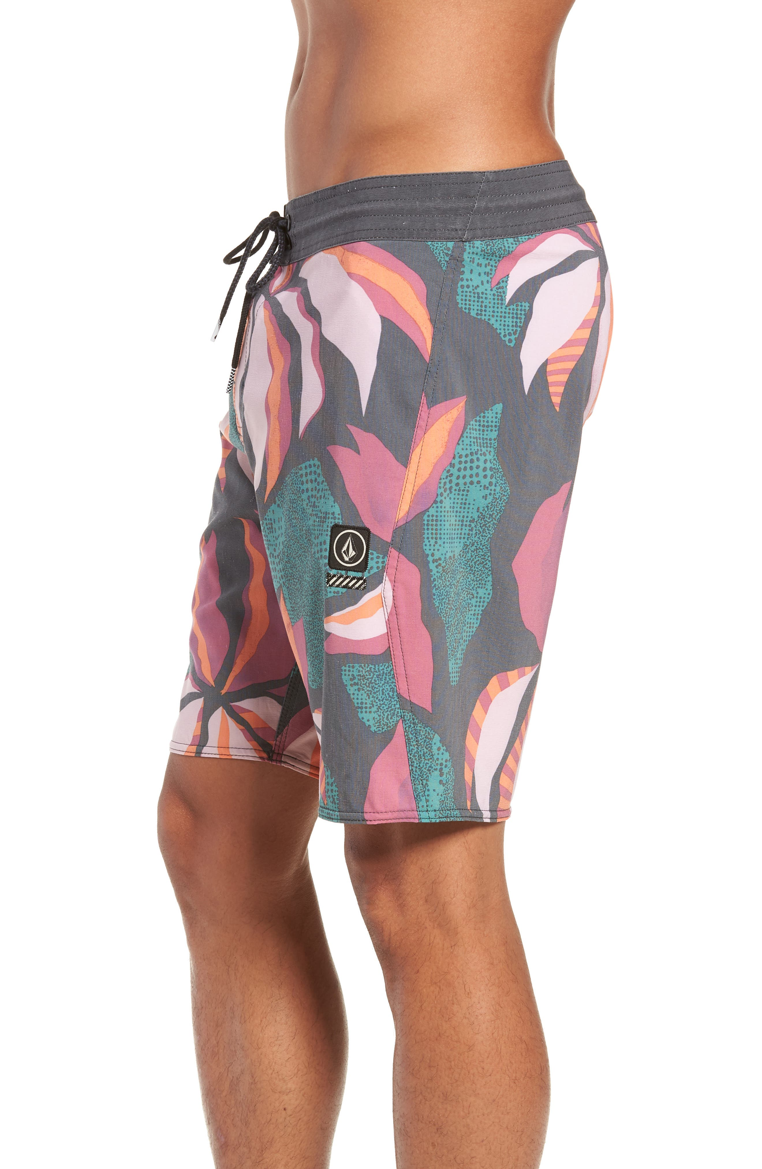 Garden Stoney Board Shorts,                             Alternate thumbnail 3, color,                             ASPHALT BLACK